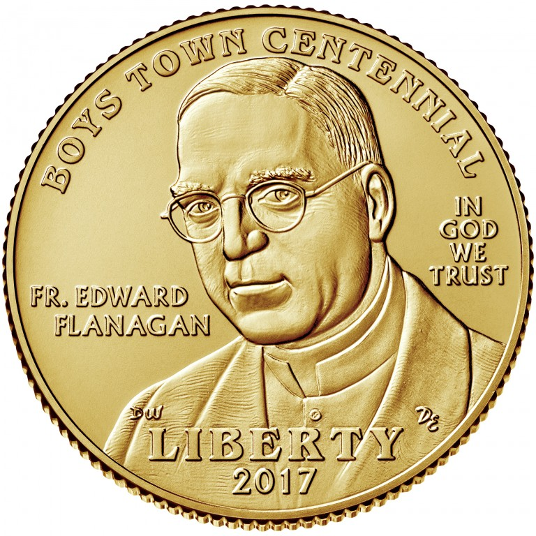 2017 Boys Town Commemorative gold uncirculated obverse