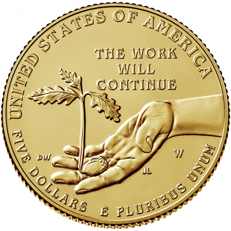2017 Boys Town Commemorative gold uncirculated reverse