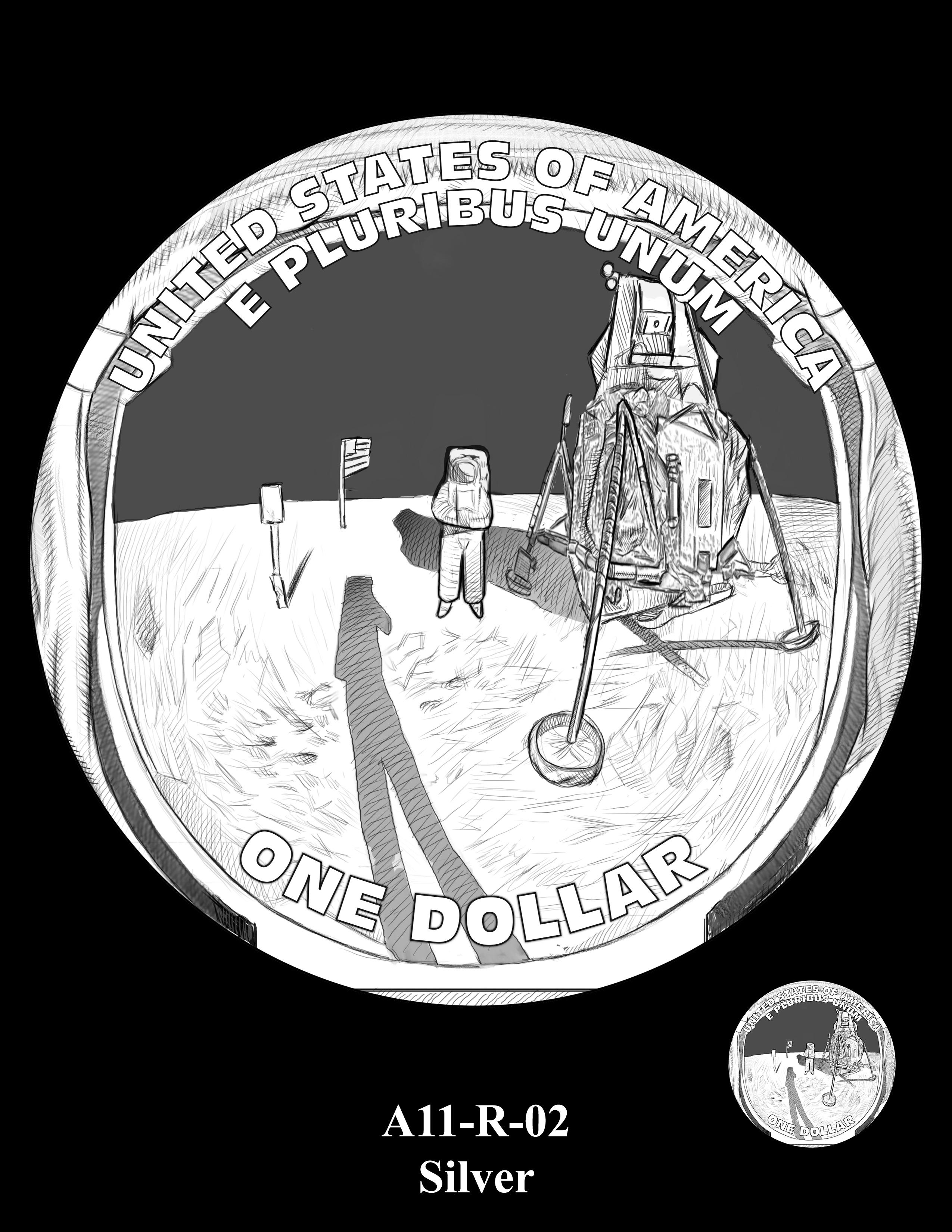 A11-R-02-SILVER -- 2019-Apollo 11 50th Anniversary Commemorative Coin