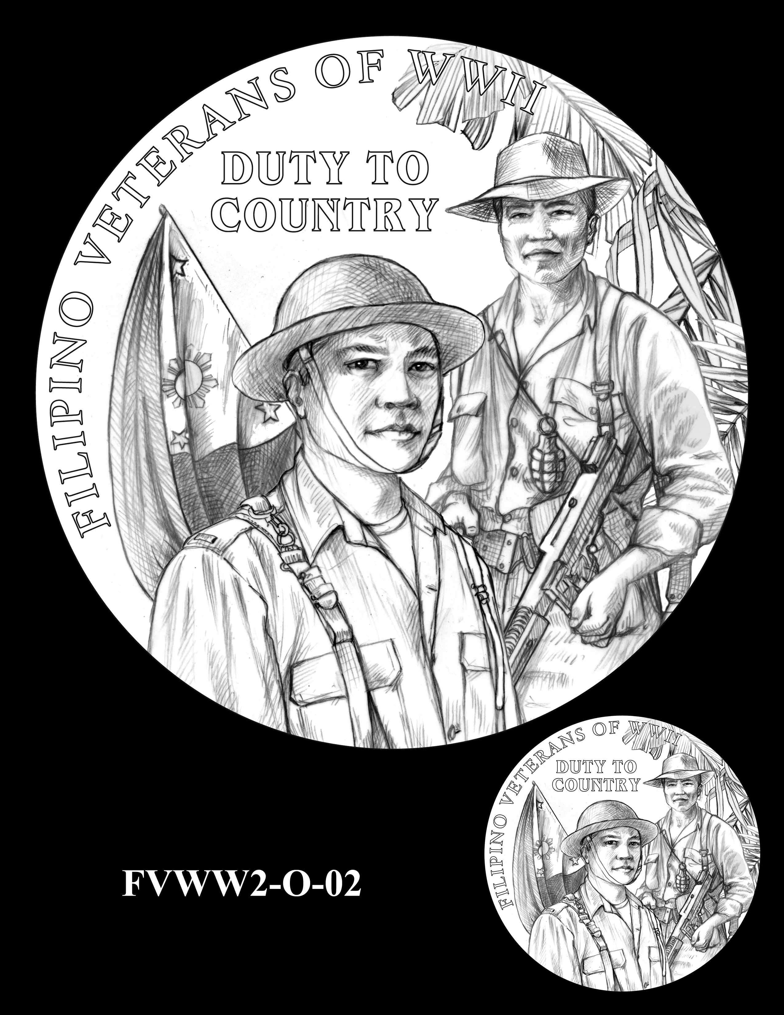 FVWW2-O-02 -- Filipino Veterans of World War II Congressional Gold Medal