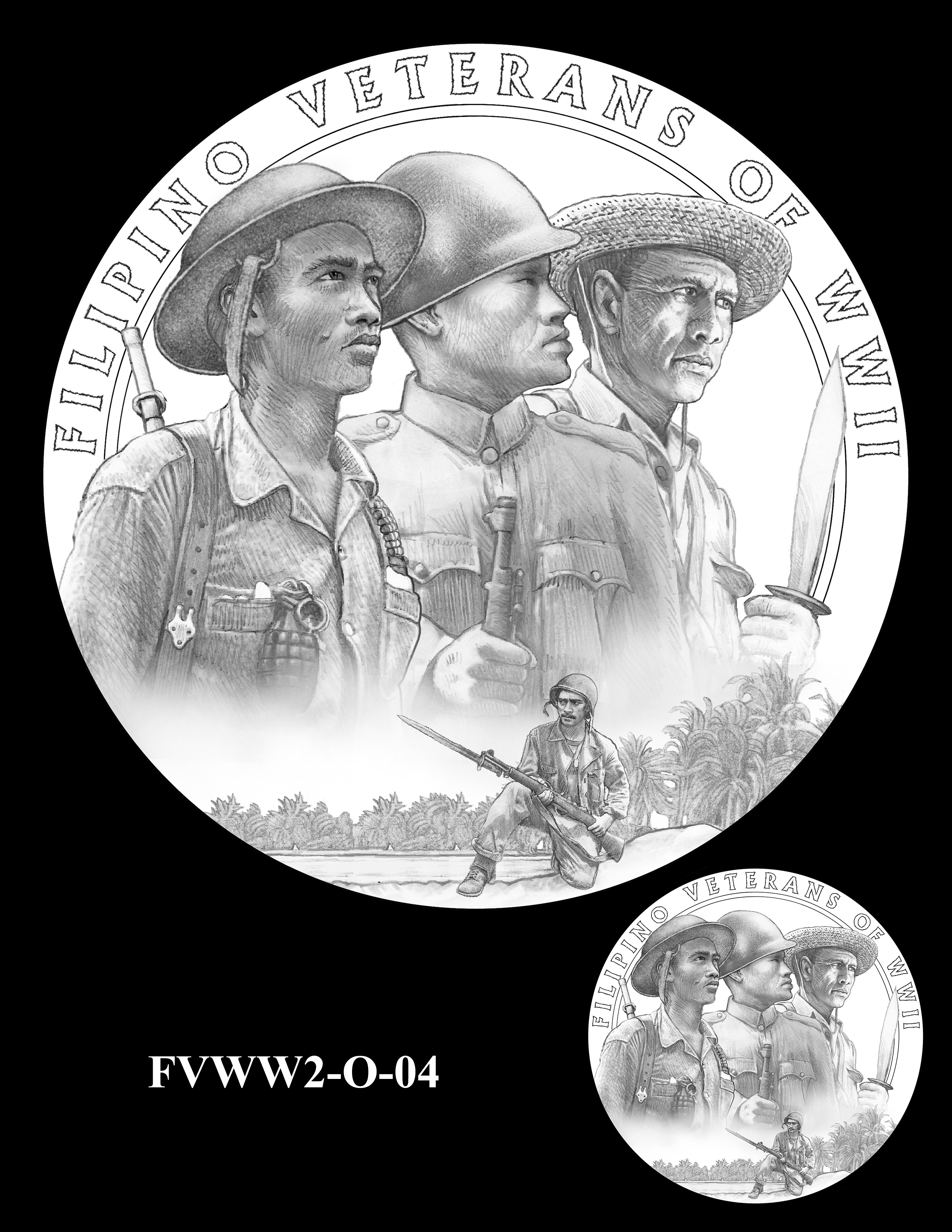 FVWW2-O-04 -- Filipino Veterans of World War II Congressional Gold Medal