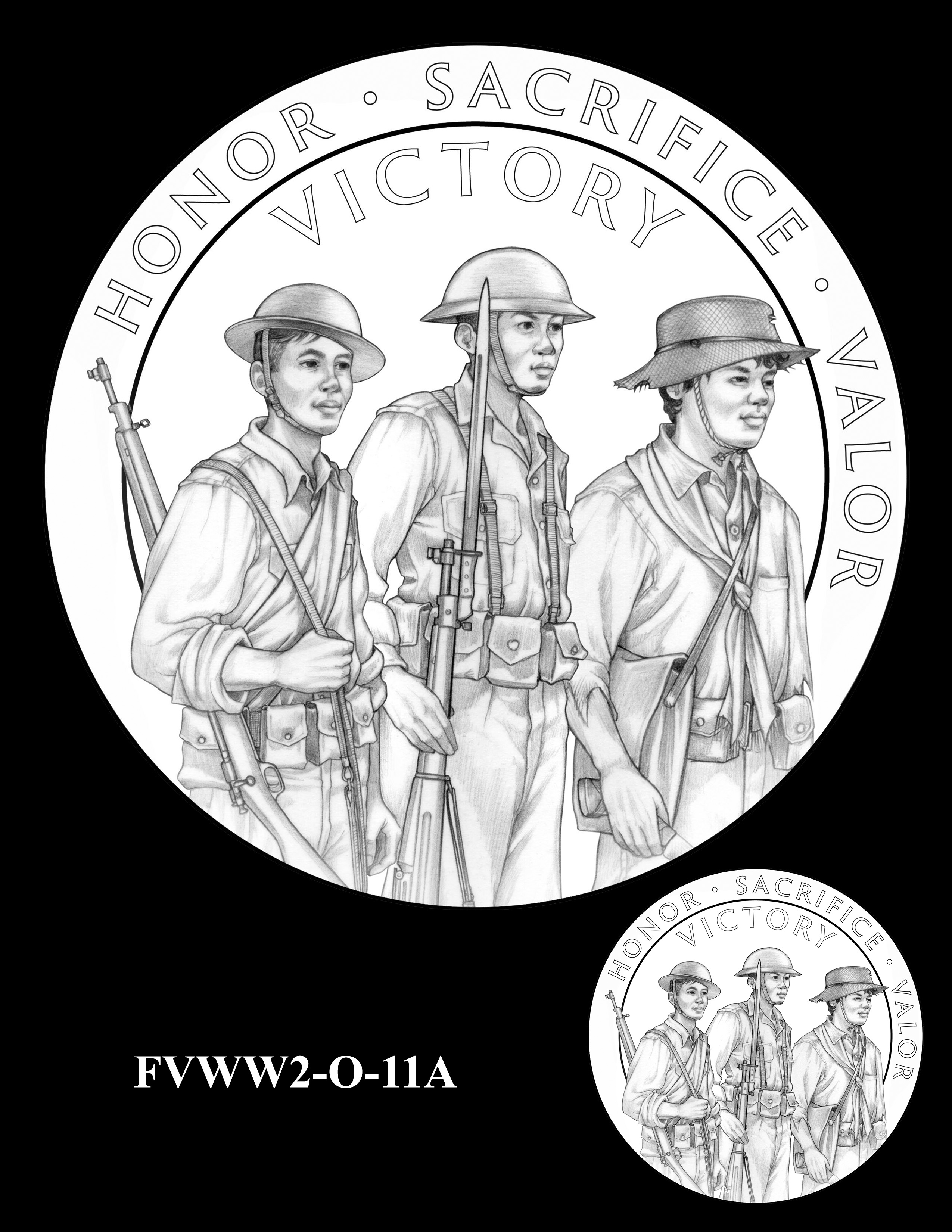 FVWW2-O-11A -- Filipino Veterans of World War II Congressional Gold Medal
