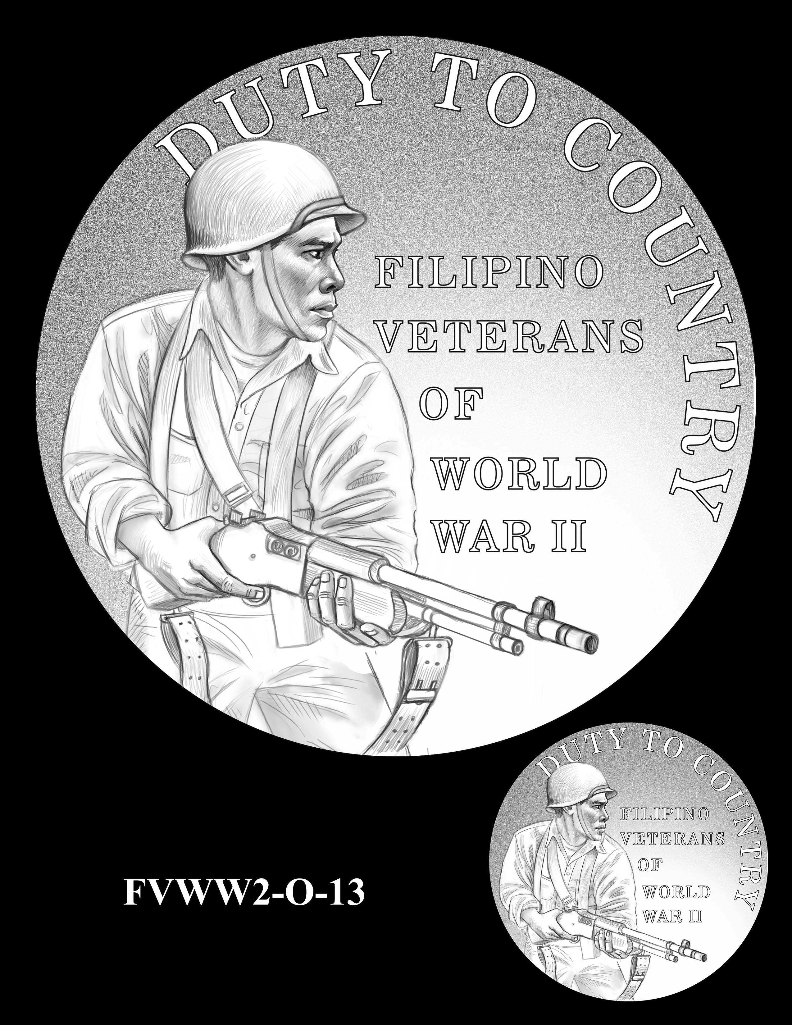 FVWW2-O-13 -- Filipino Veterans of World War II Congressional Gold Medal