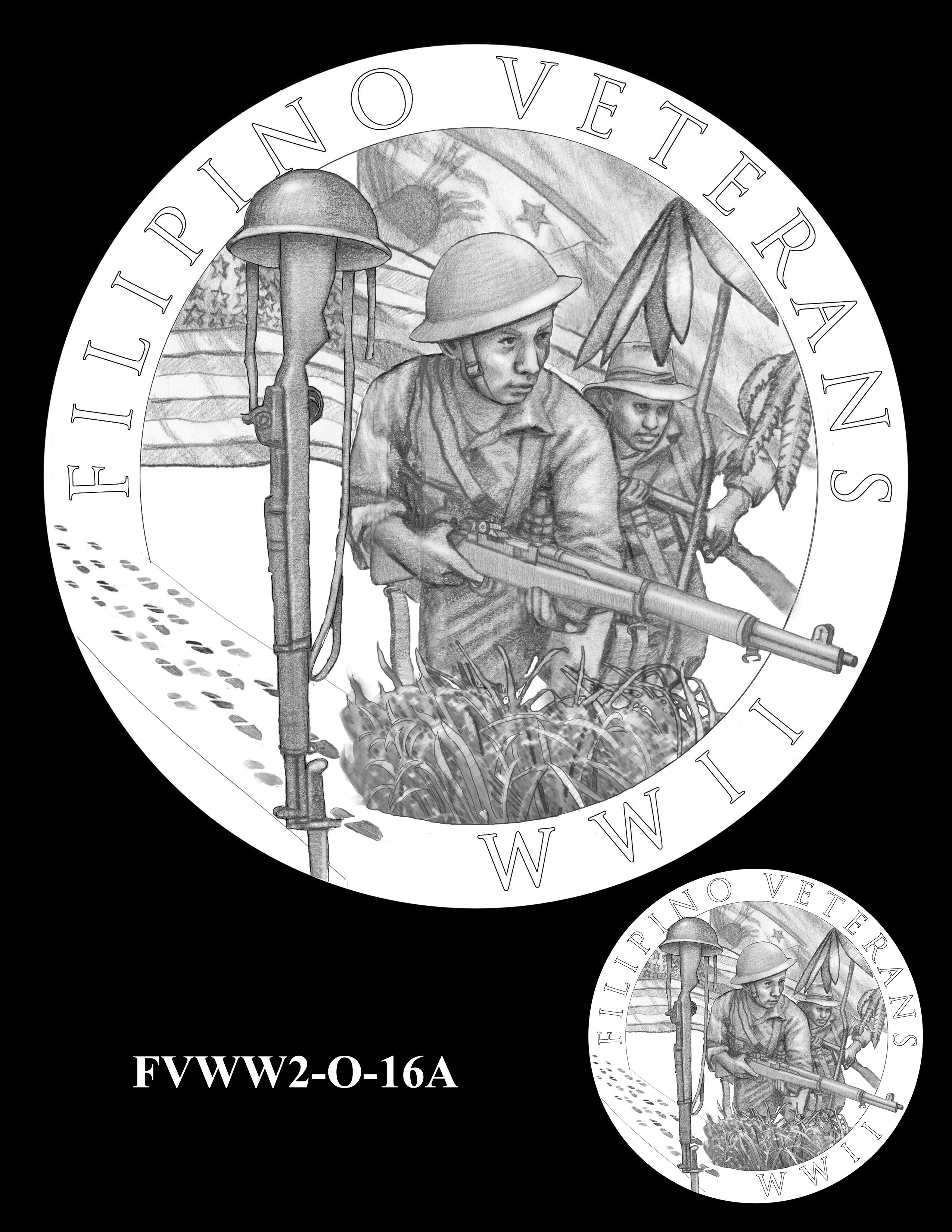 FVWW2-O-16A -- Filipino Veterans of World War II Congressional Gold Medal