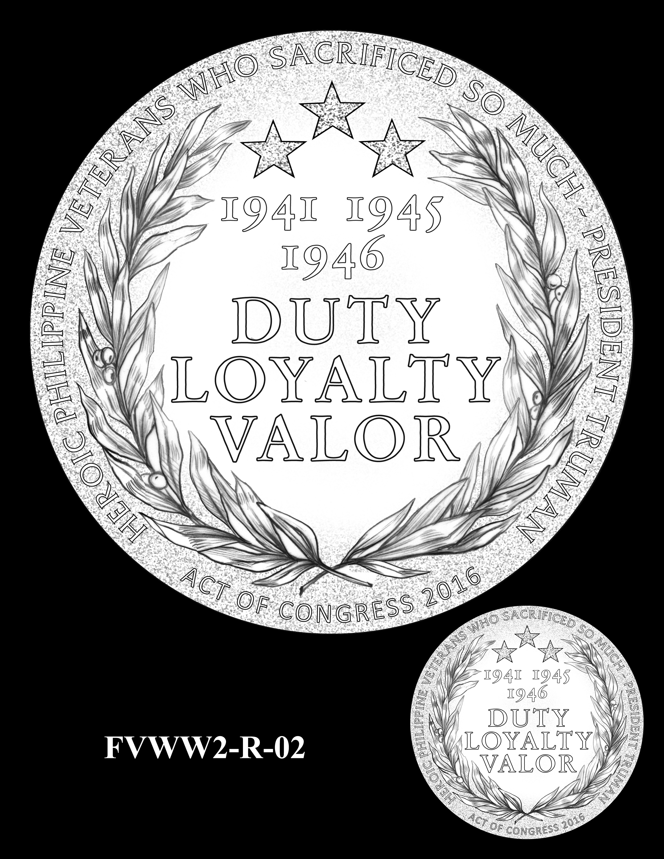 FVWW2-R-02 -- Filipino Veterans of World War II Congressional Gold Medal