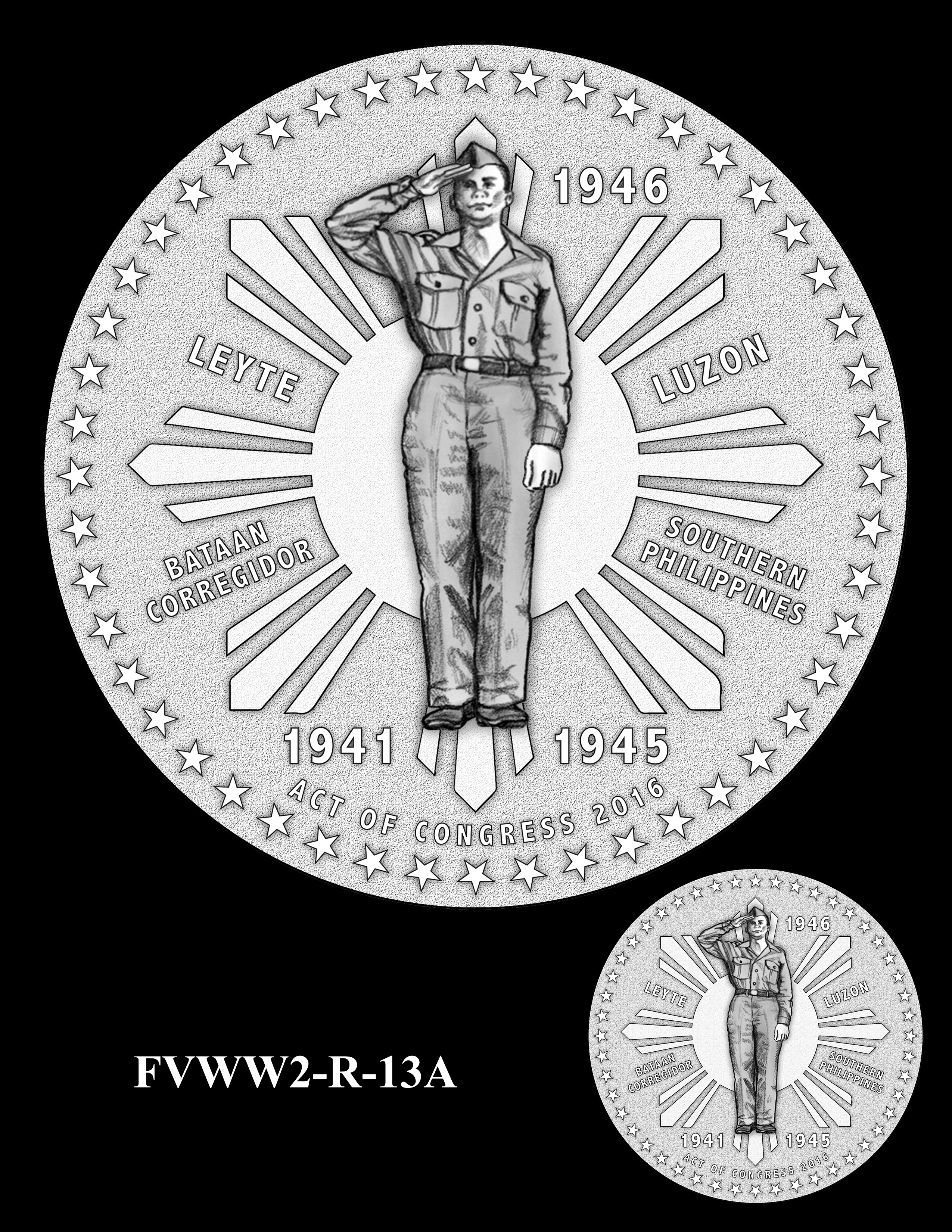 FVWW2-R-13A -- Filipino Veterans of World War II Congressional Gold Medal