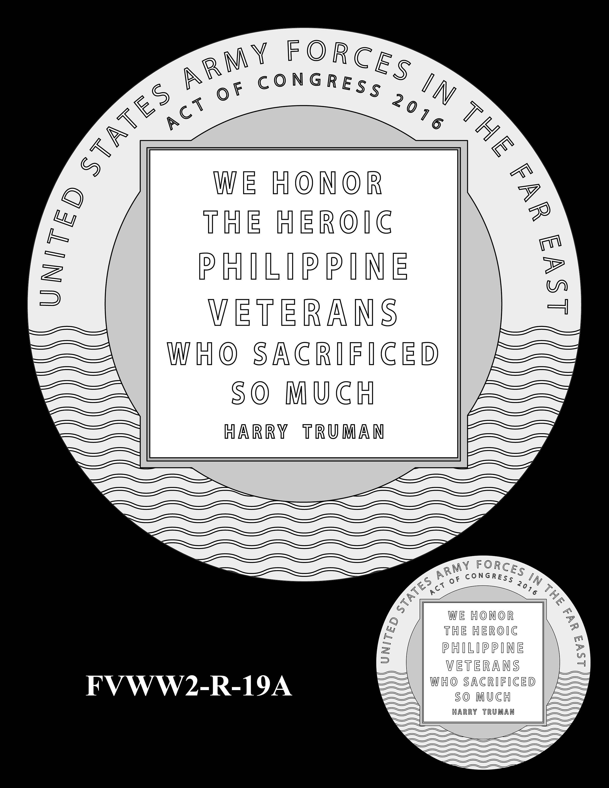 FVWW2-R-19A -- Filipino Veterans of World War II Congressional Gold Medal