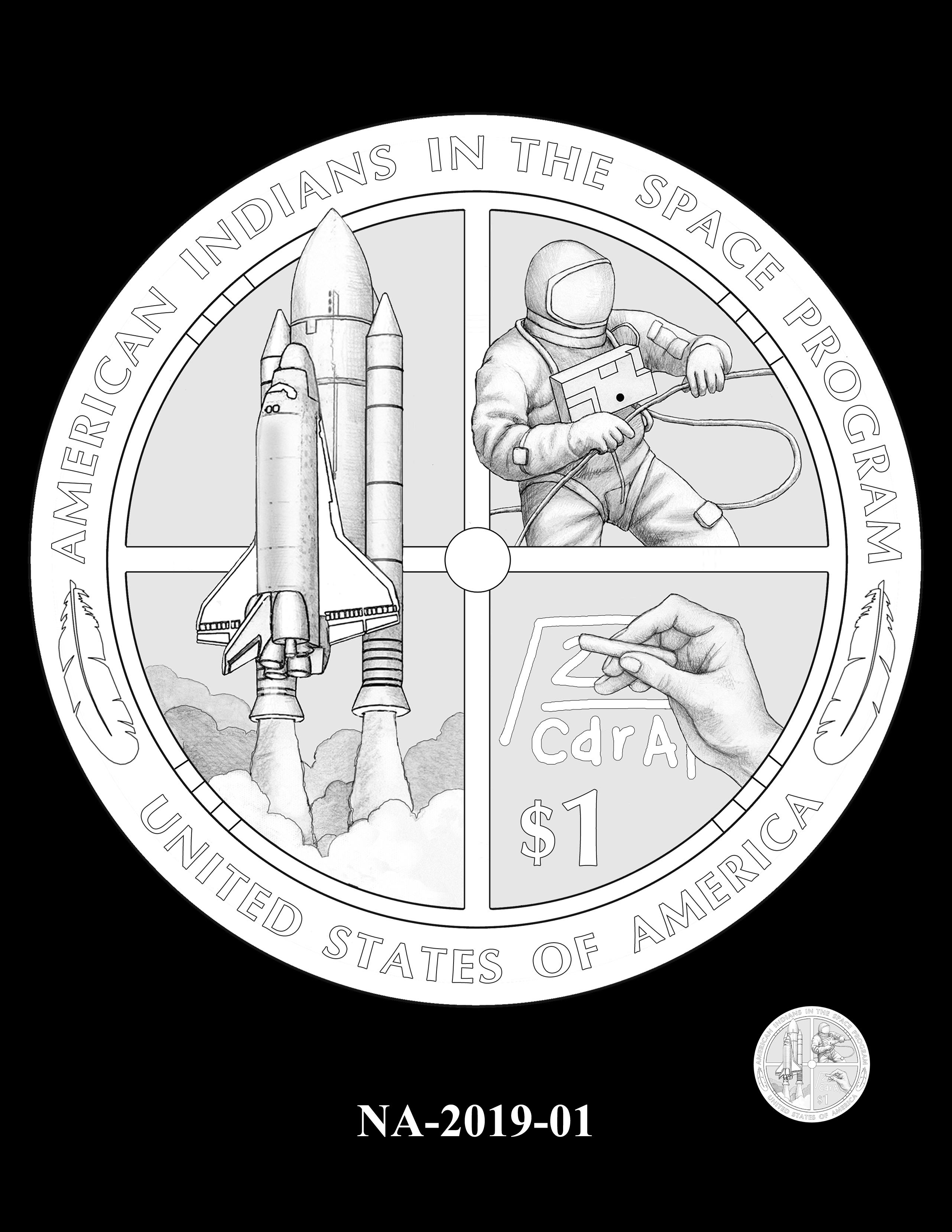 NA-2019-01 --2019 Native American $1 Coin