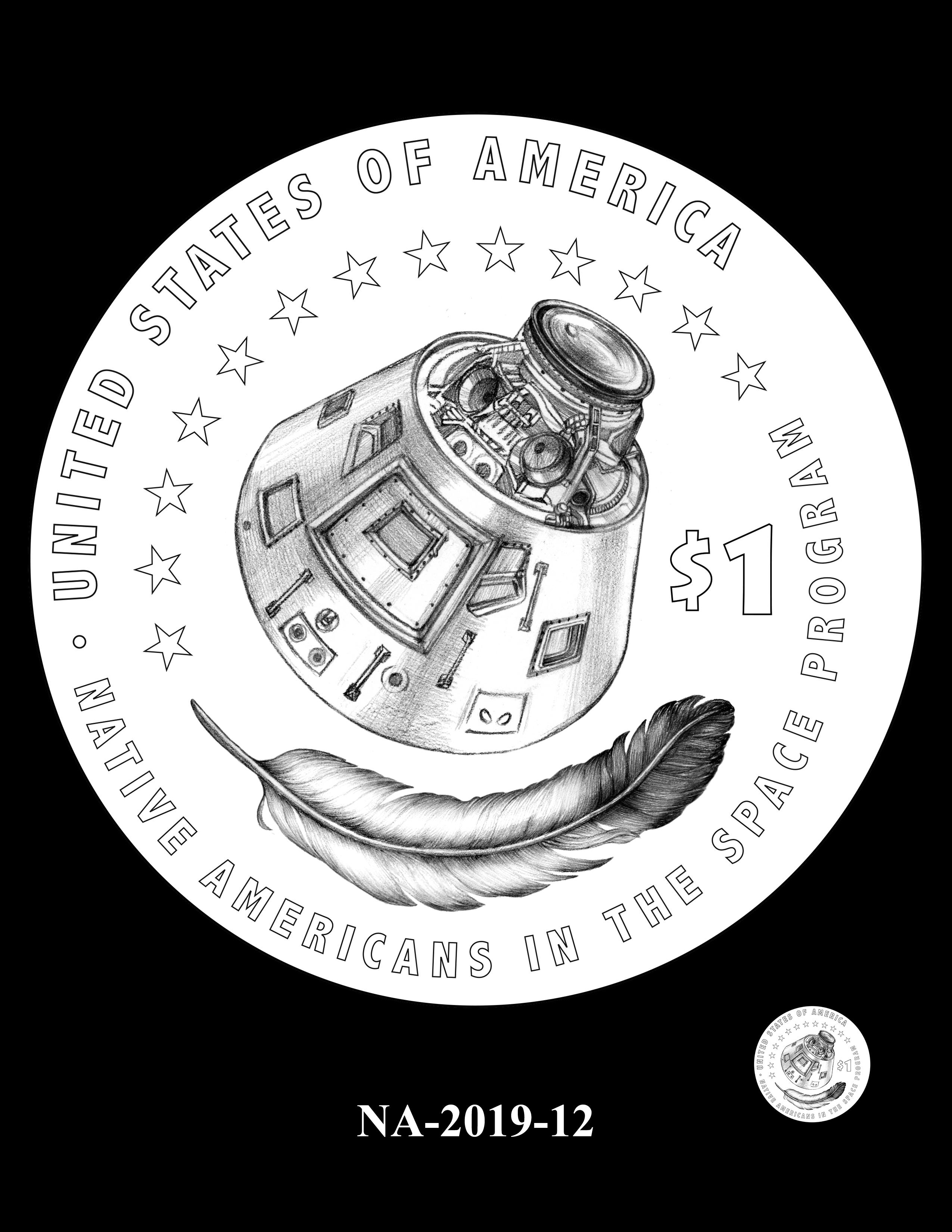 NA-2019-12 --2019 Native American $1 Coin