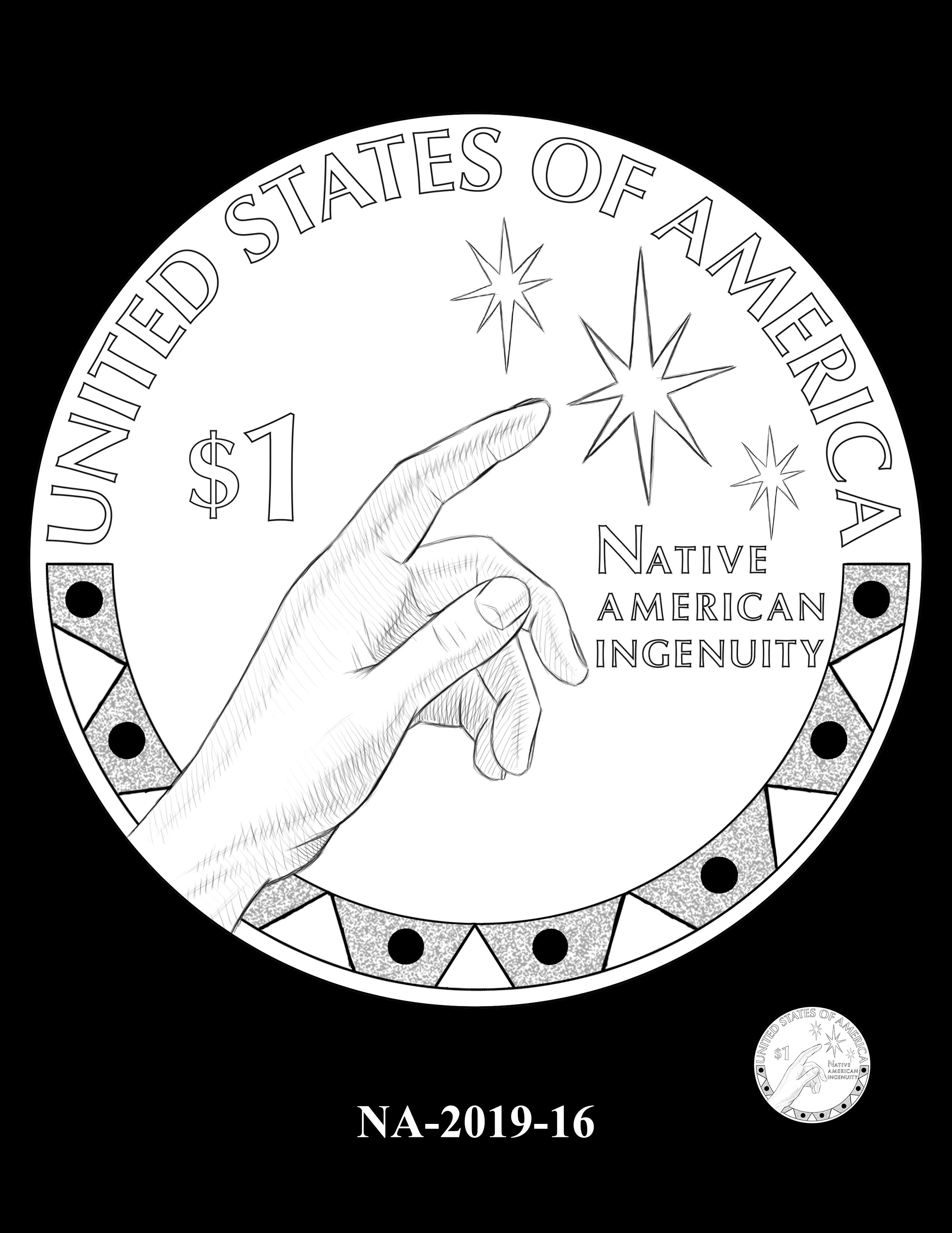 NA-2019-16 --2019 Native American $1 Coin
