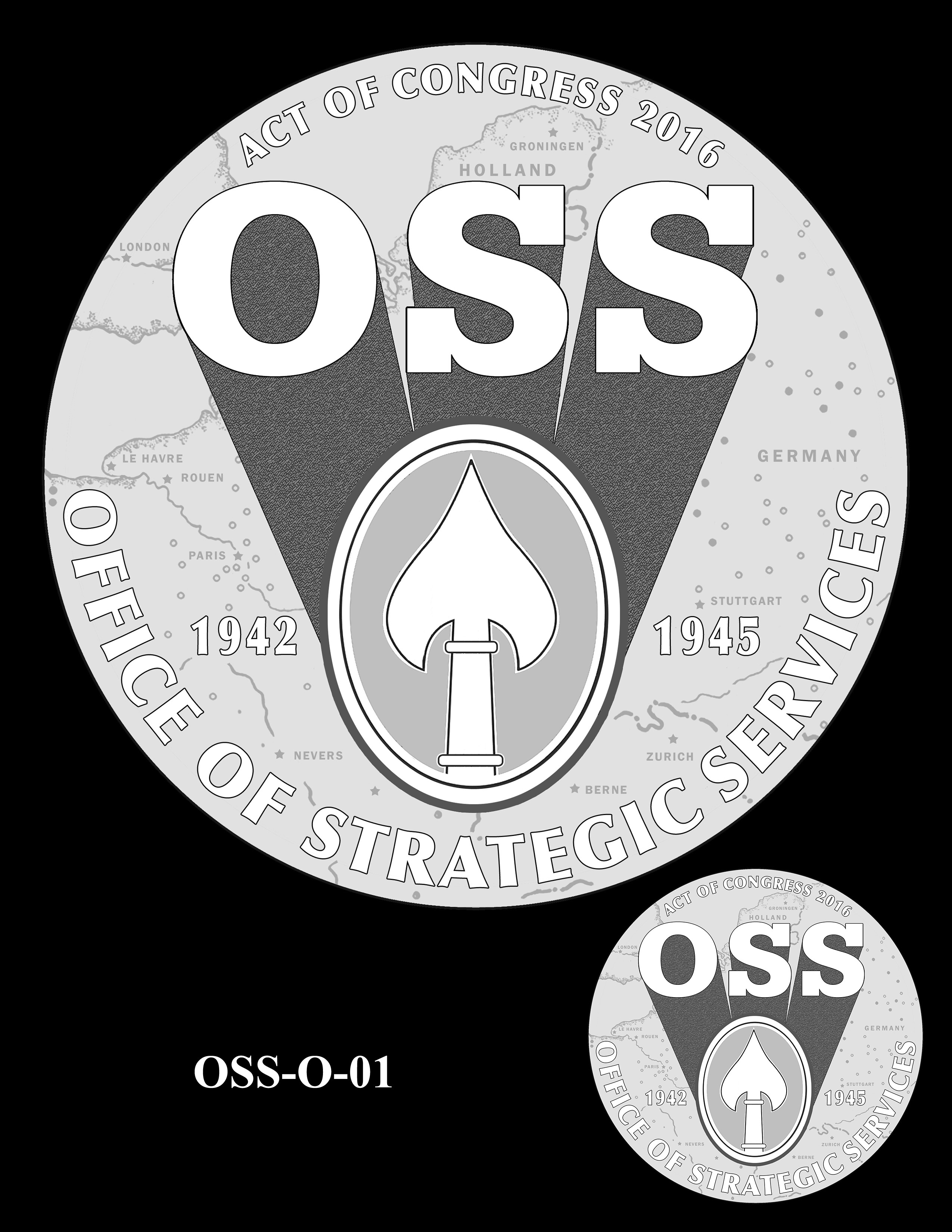 OSS-O-01 -- Office of Strategic Services Congressional Gold Medal