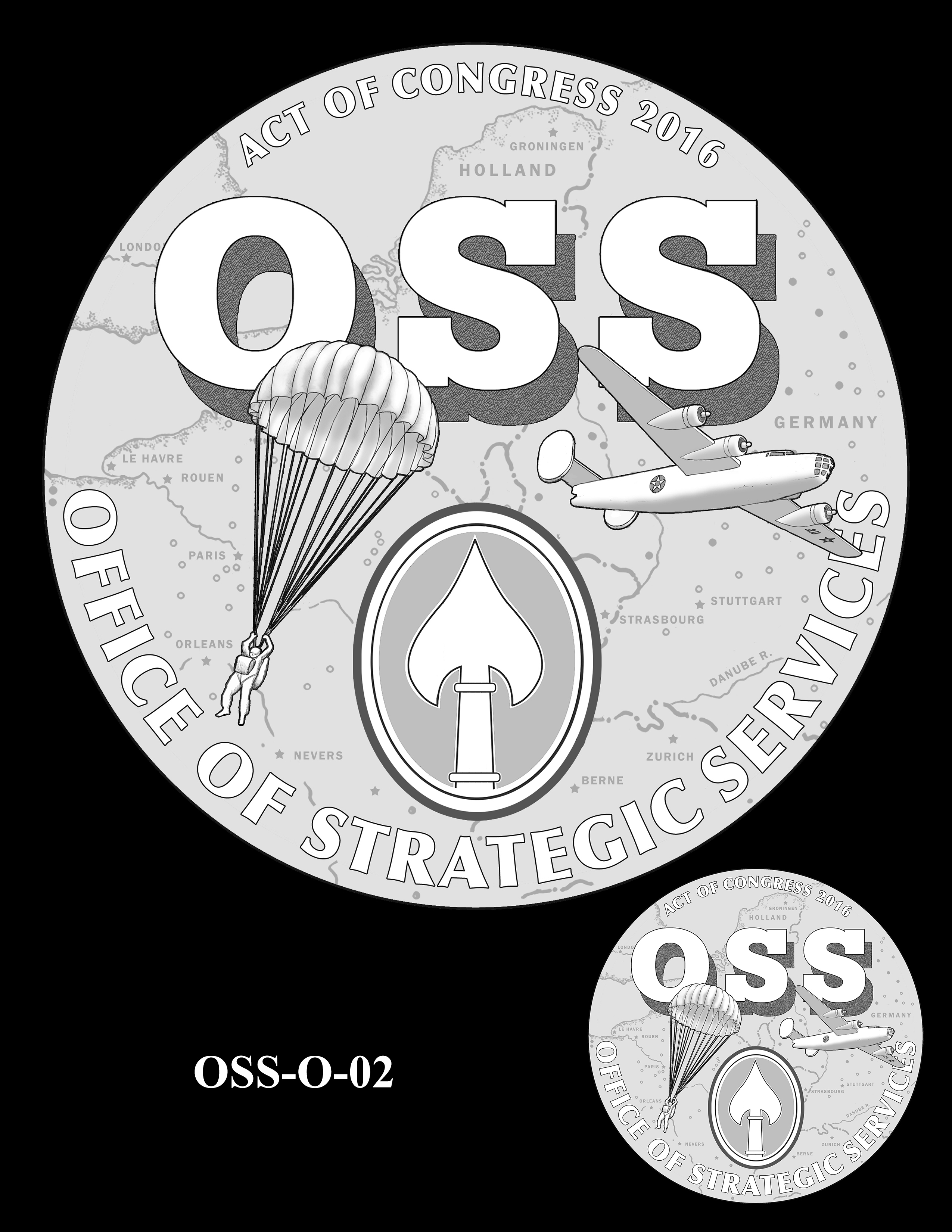 OSS-O-02 -- Office of Strategic Services Congressional Gold Medal