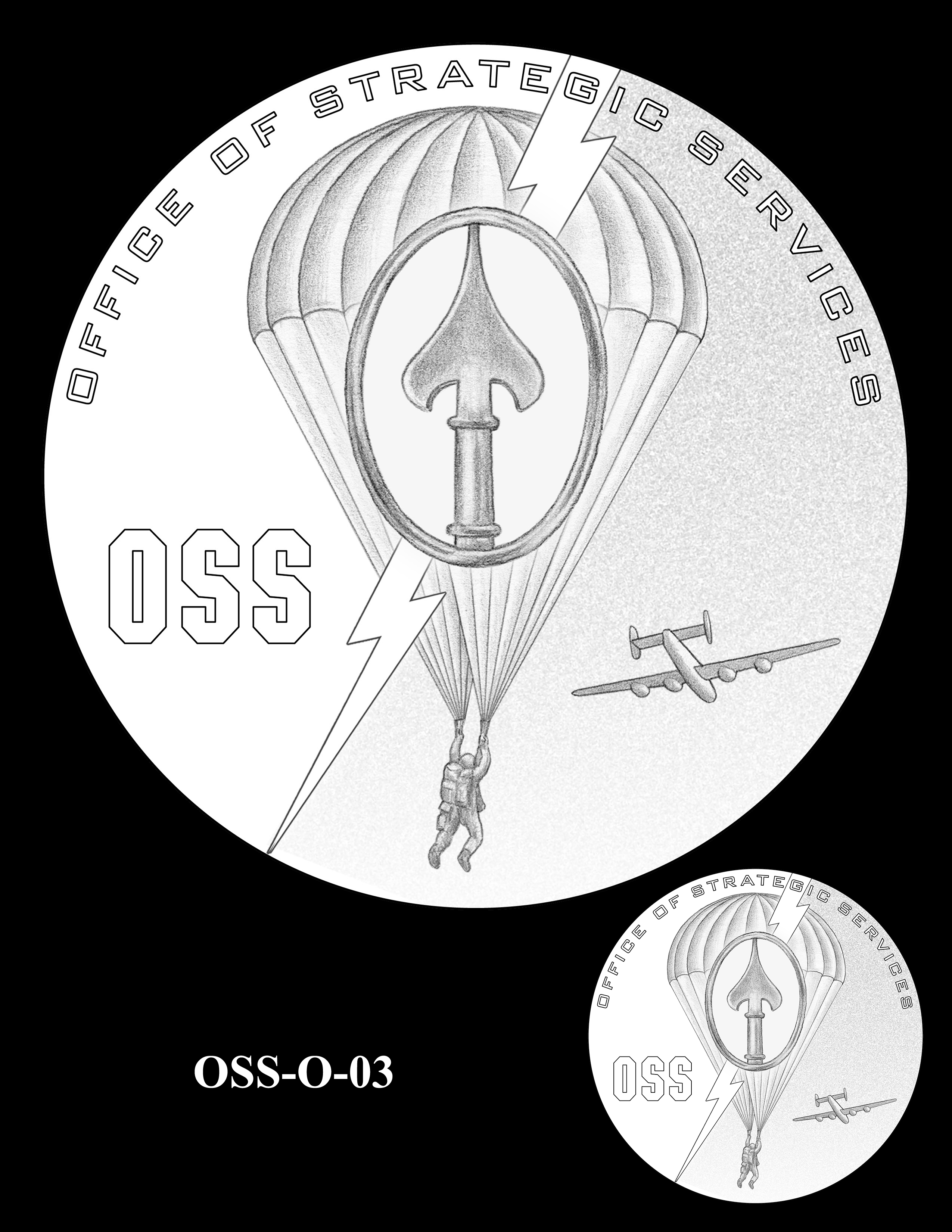 OSS-O-03 -- Office of Strategic Services Congressional Gold Medal