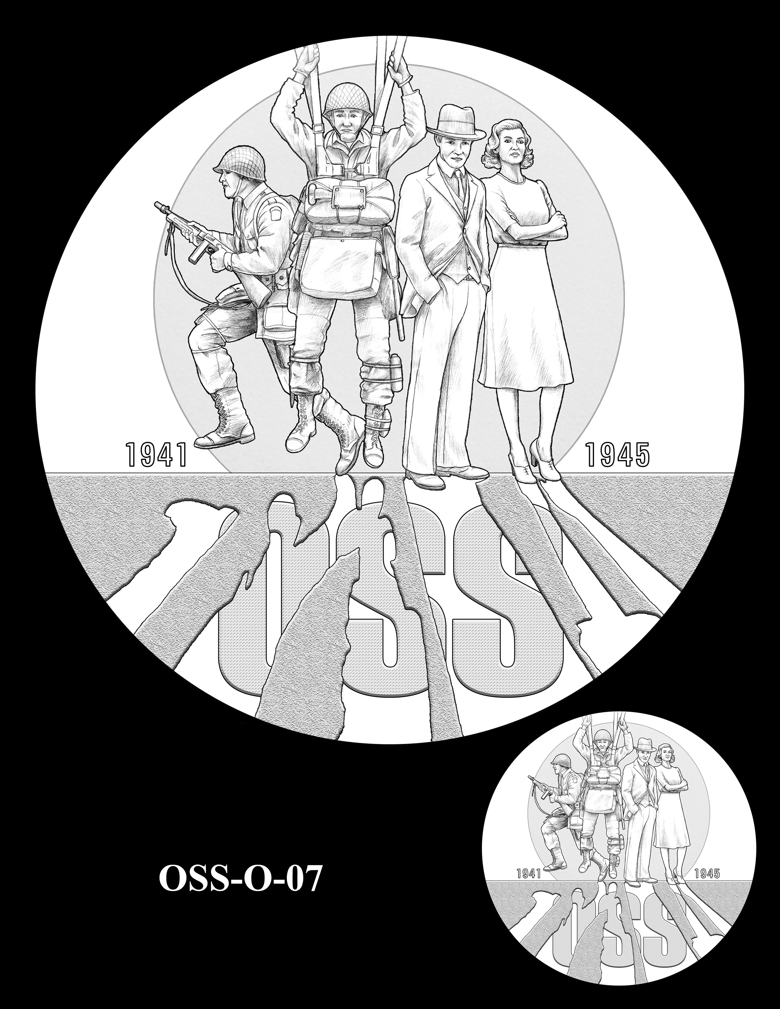OSS-O-07 -- Office of Strategic Services Congressional Gold Medal