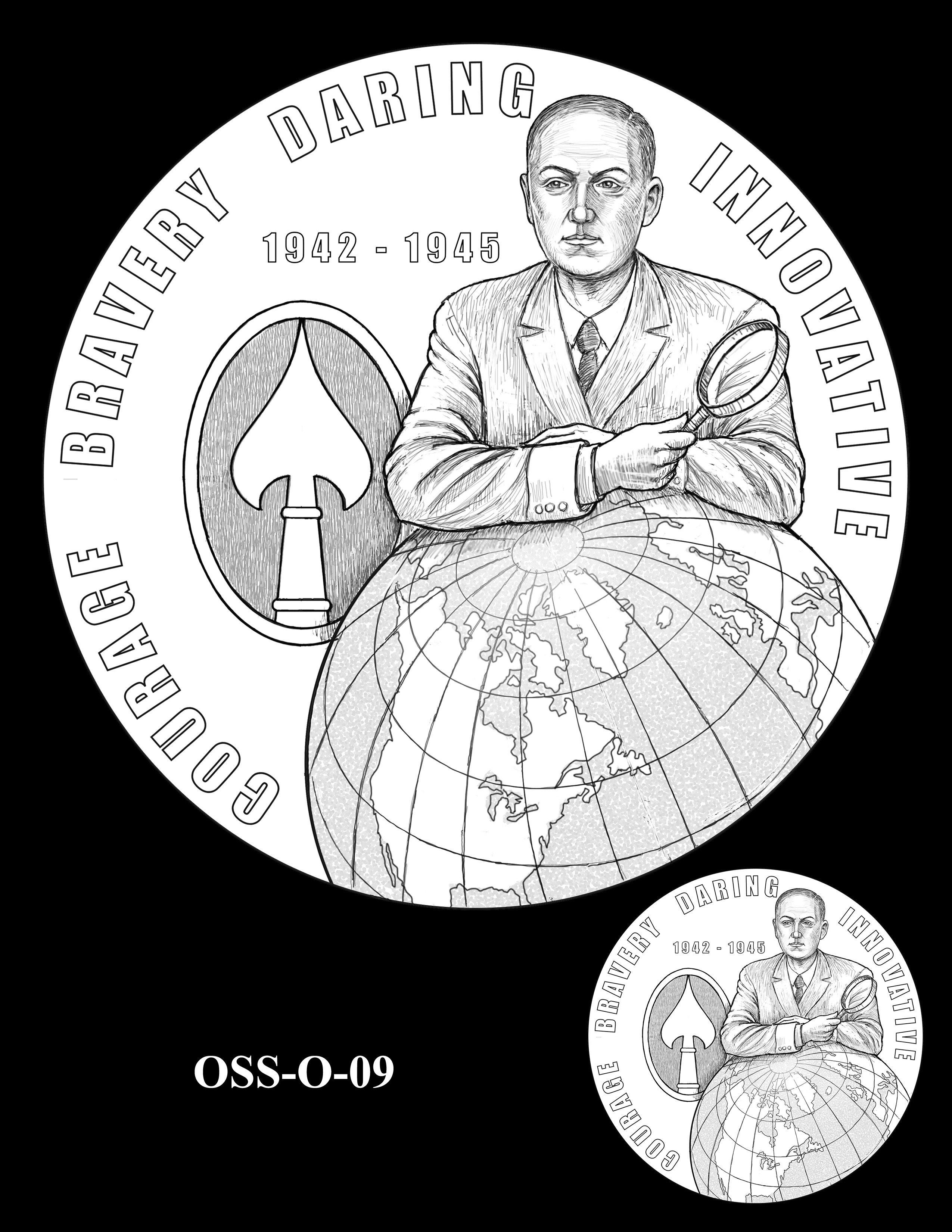 OSS-O-09 -- Office of Strategic Services Congressional Gold Medal