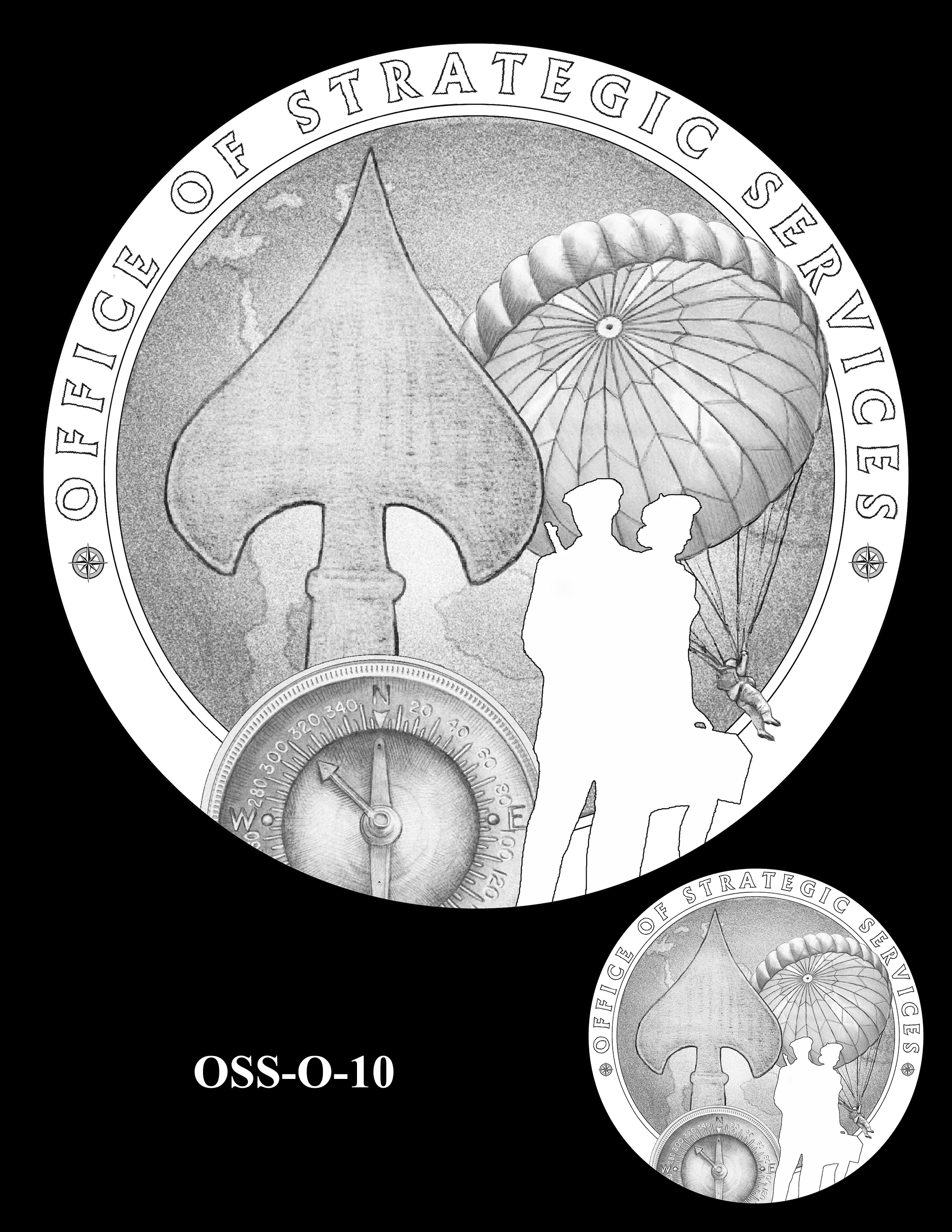 OSS-O-10 -- Office of Strategic Services Congressional Gold Medal
