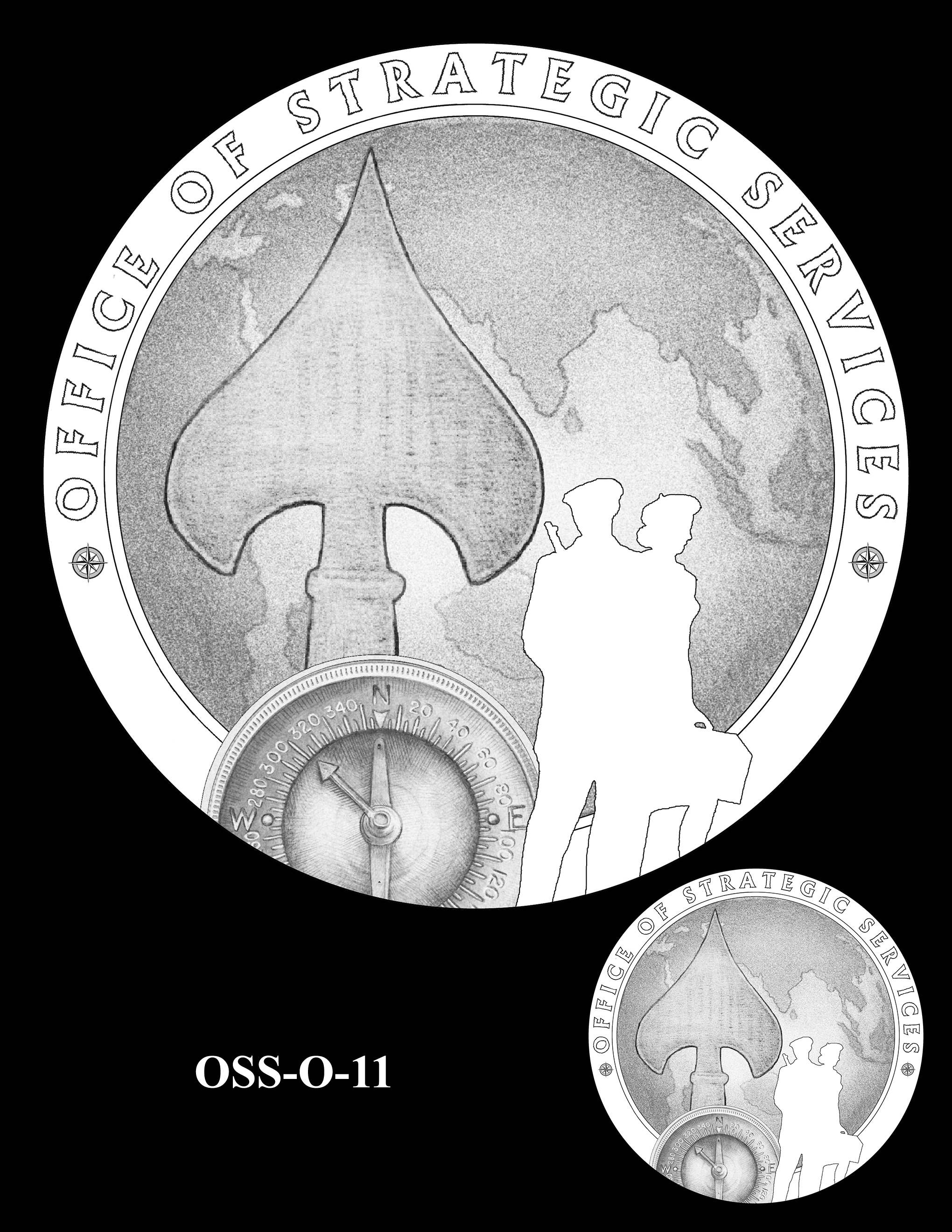 OSS-O-11 -- Office of Strategic Services Congressional Gold Medal