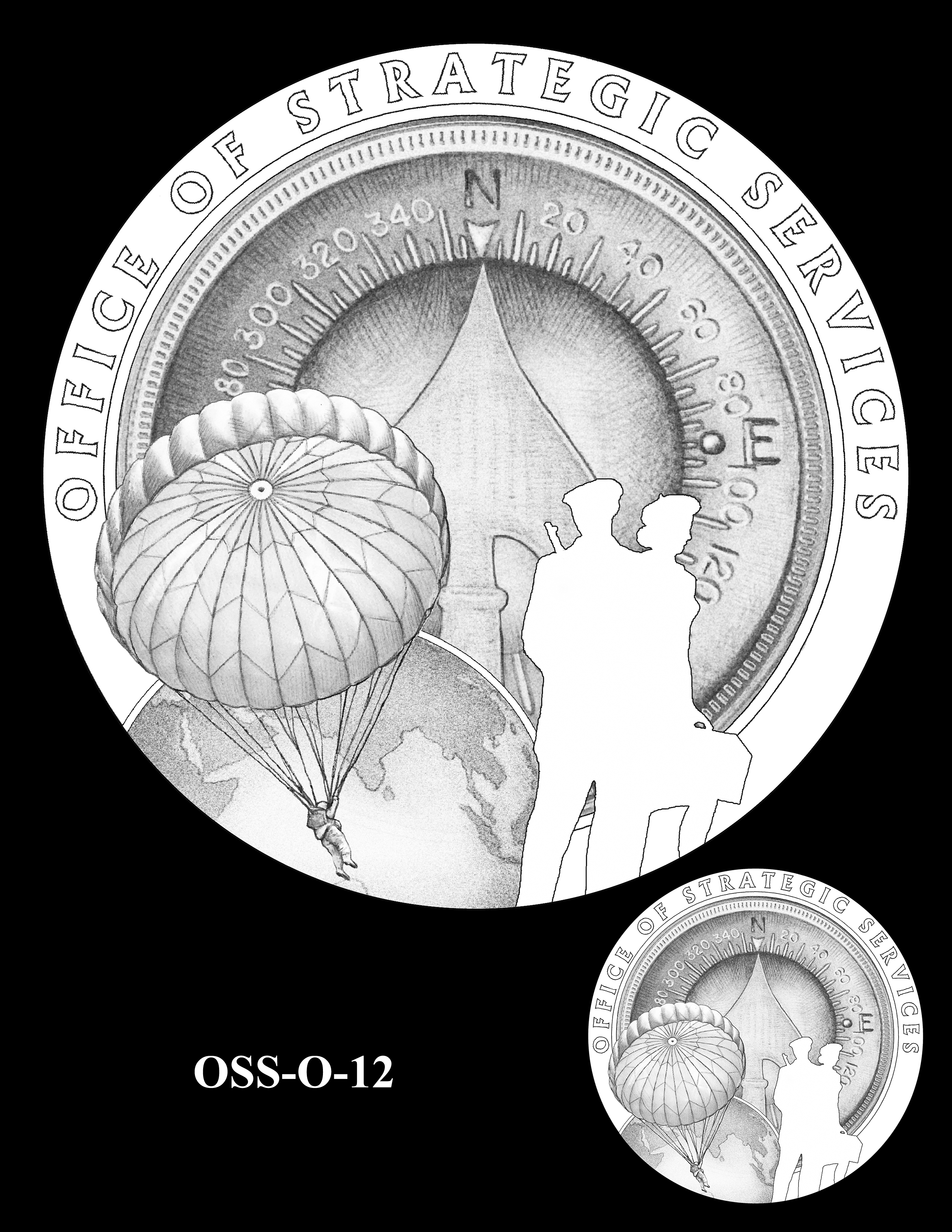 OSS-O-12 -- Office of Strategic Services Congressional Gold Medal