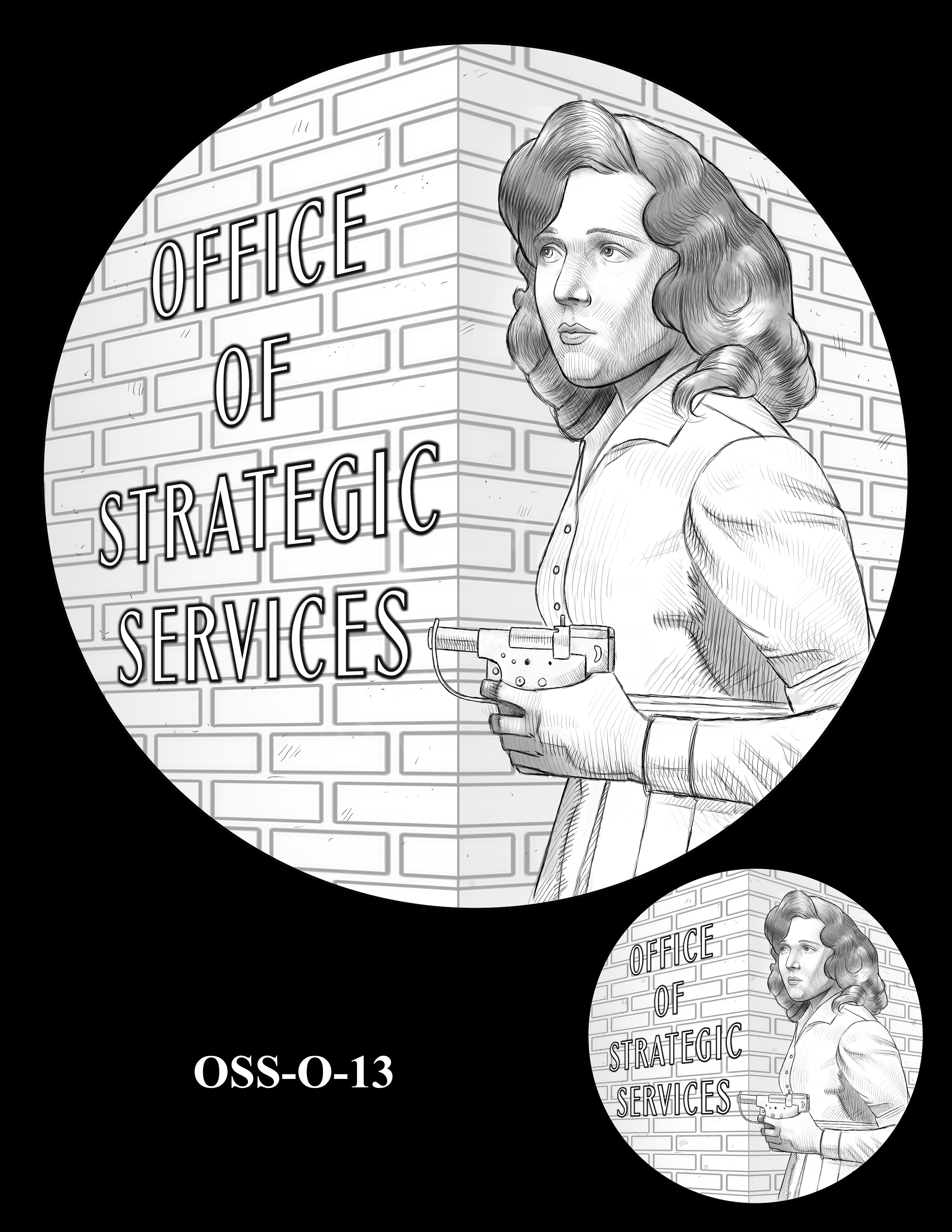 OSS-O-13 -- Office of Strategic Services Congressional Gold Medal