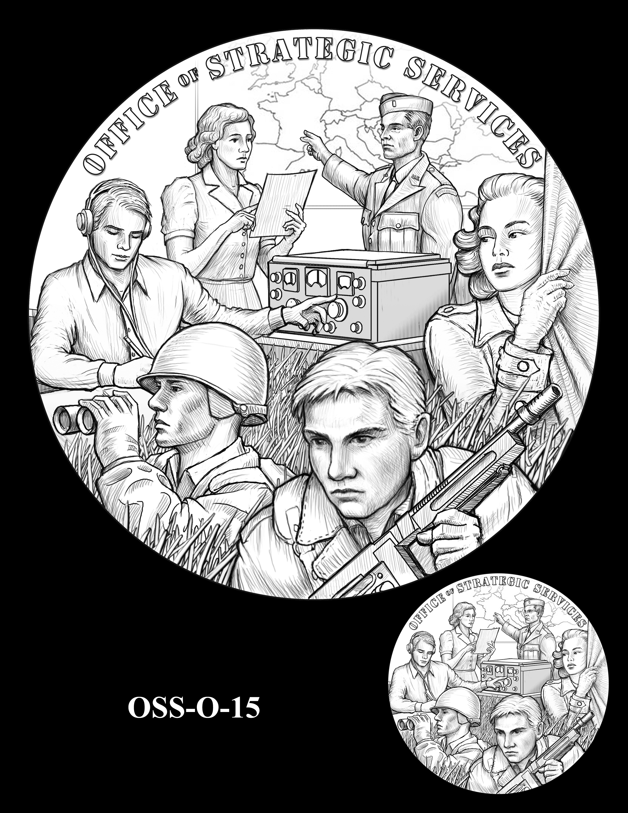 OSS-O-15 -- Office of Strategic Services Congressional Gold Medal