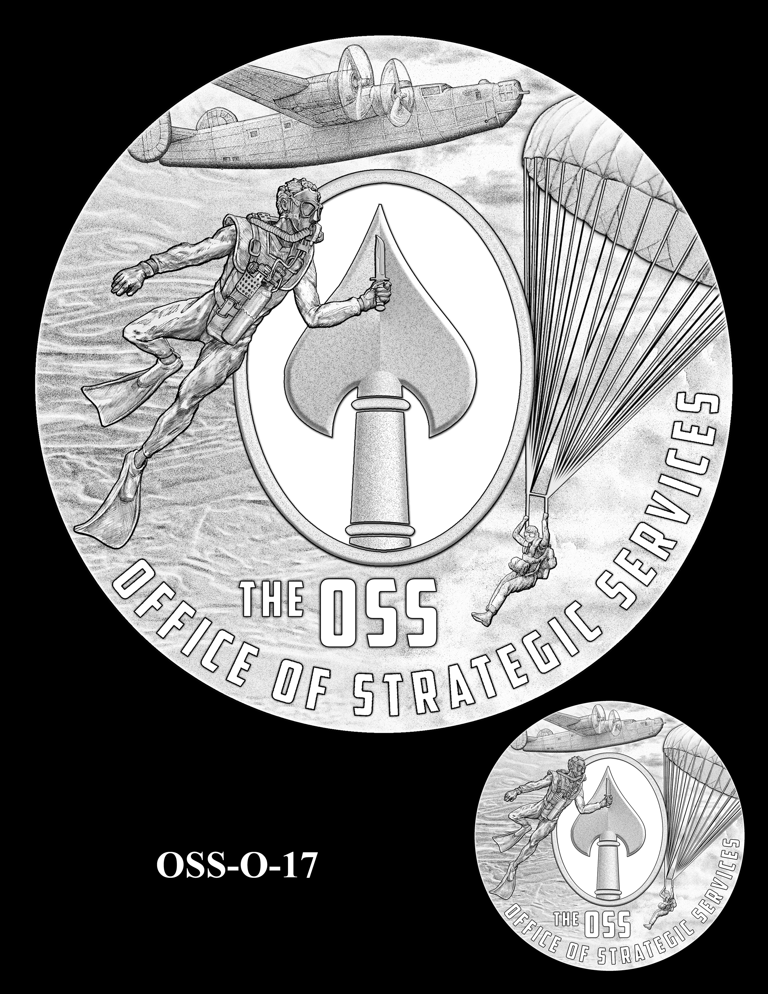 OSS-O-17 -- Office of Strategic Services Congressional Gold Medal