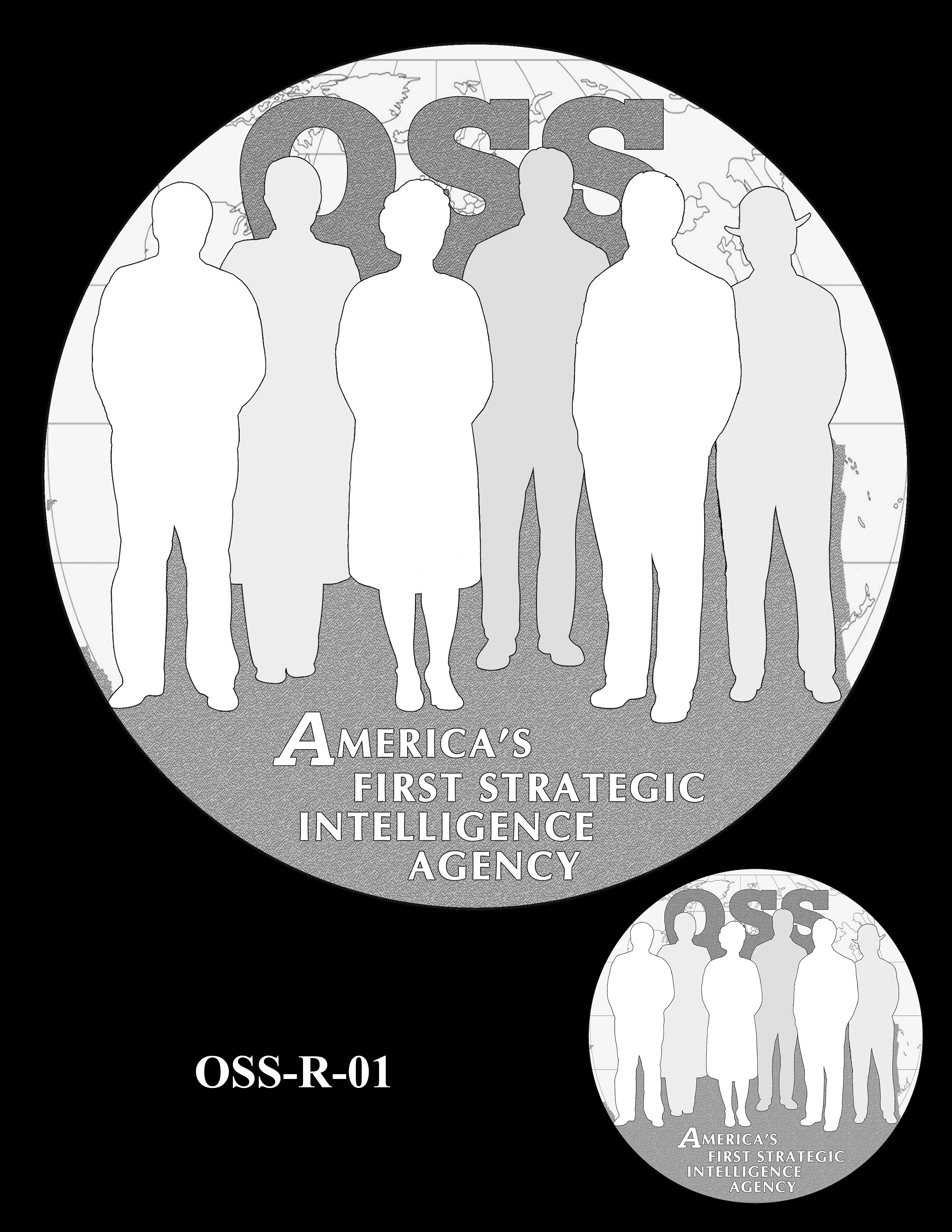 OSS-R-01 -- Office of Strategic Services Congressional Gold Medal