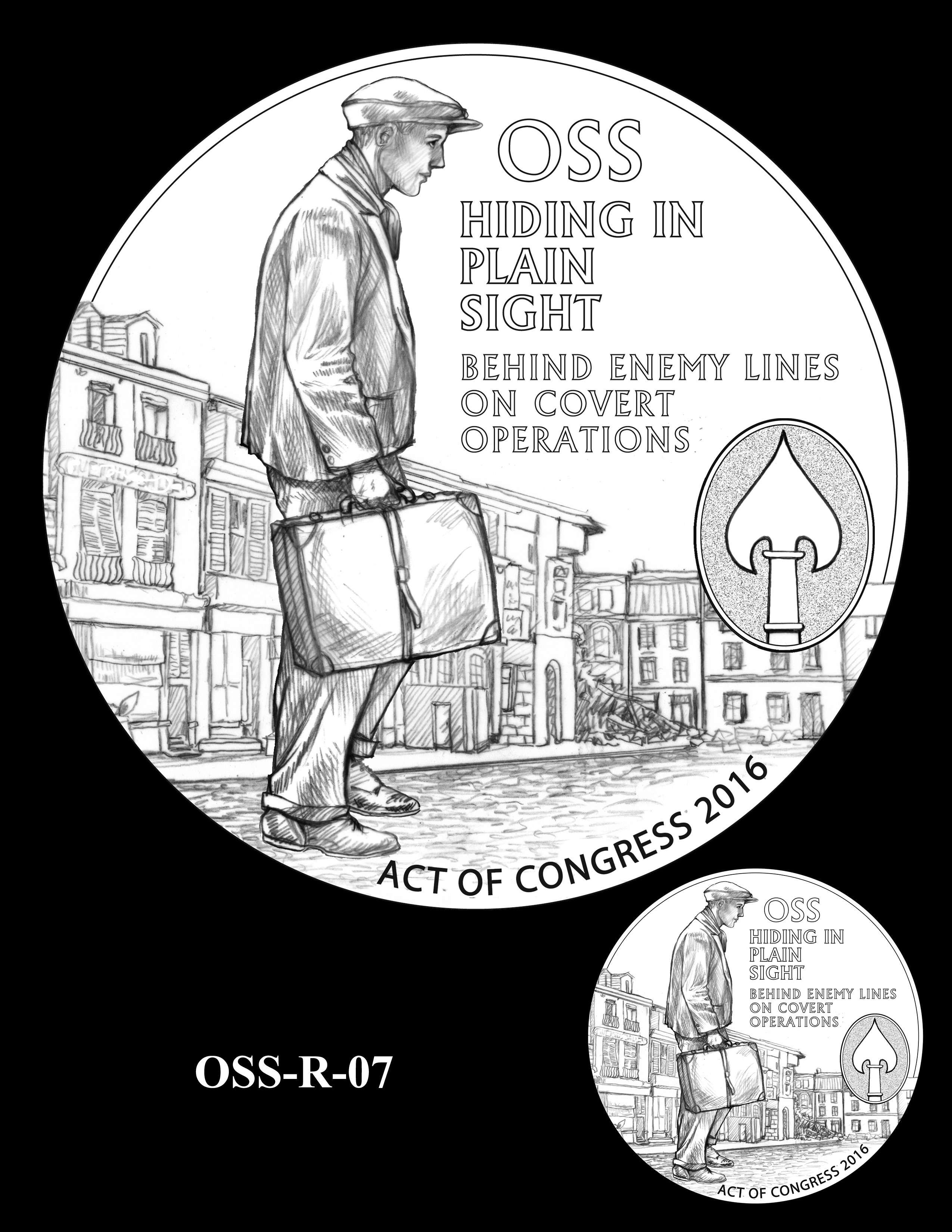 OSS-R-07 -- Office of Strategic Services Congressional Gold Medal