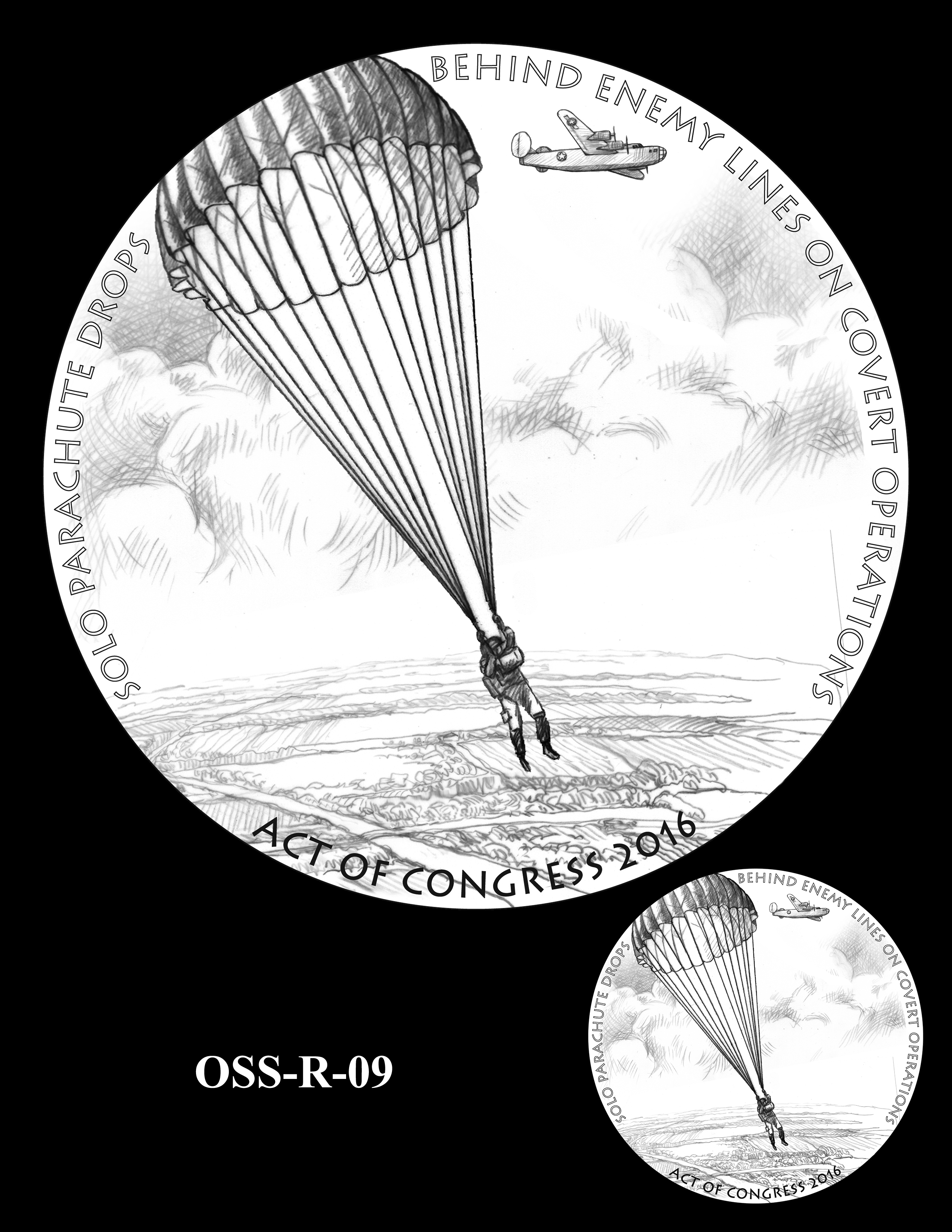 OSS-R-09 -- Office of Strategic Services Congressional Gold Medal