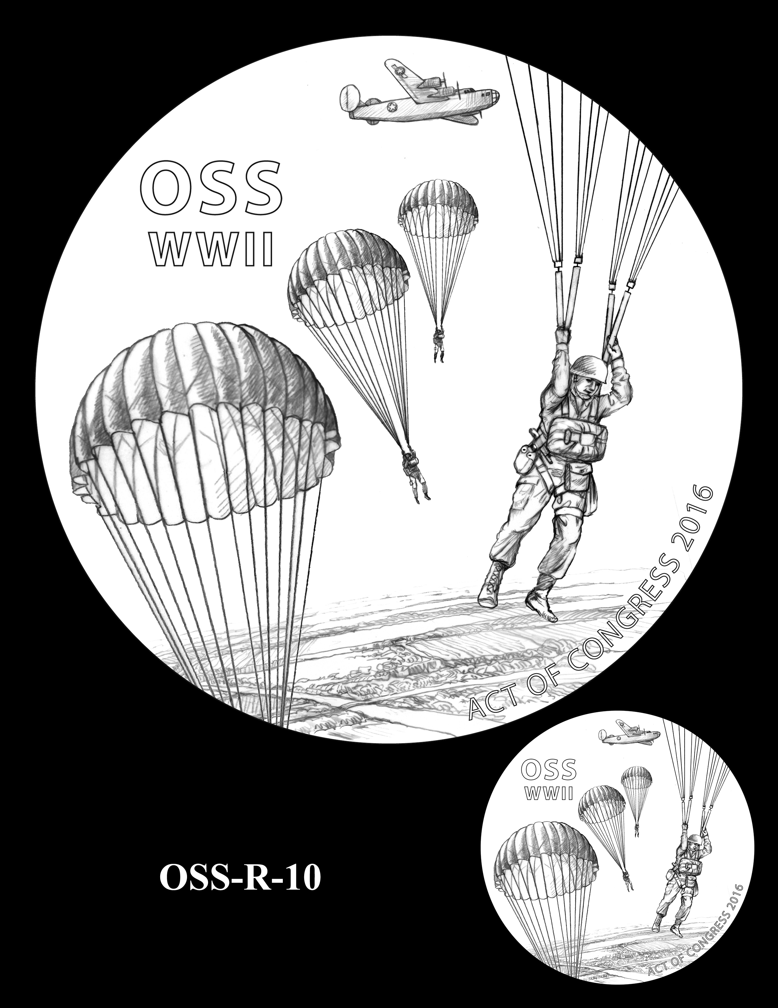 OSS-R-10 -- Office of Strategic Services Congressional Gold Medal