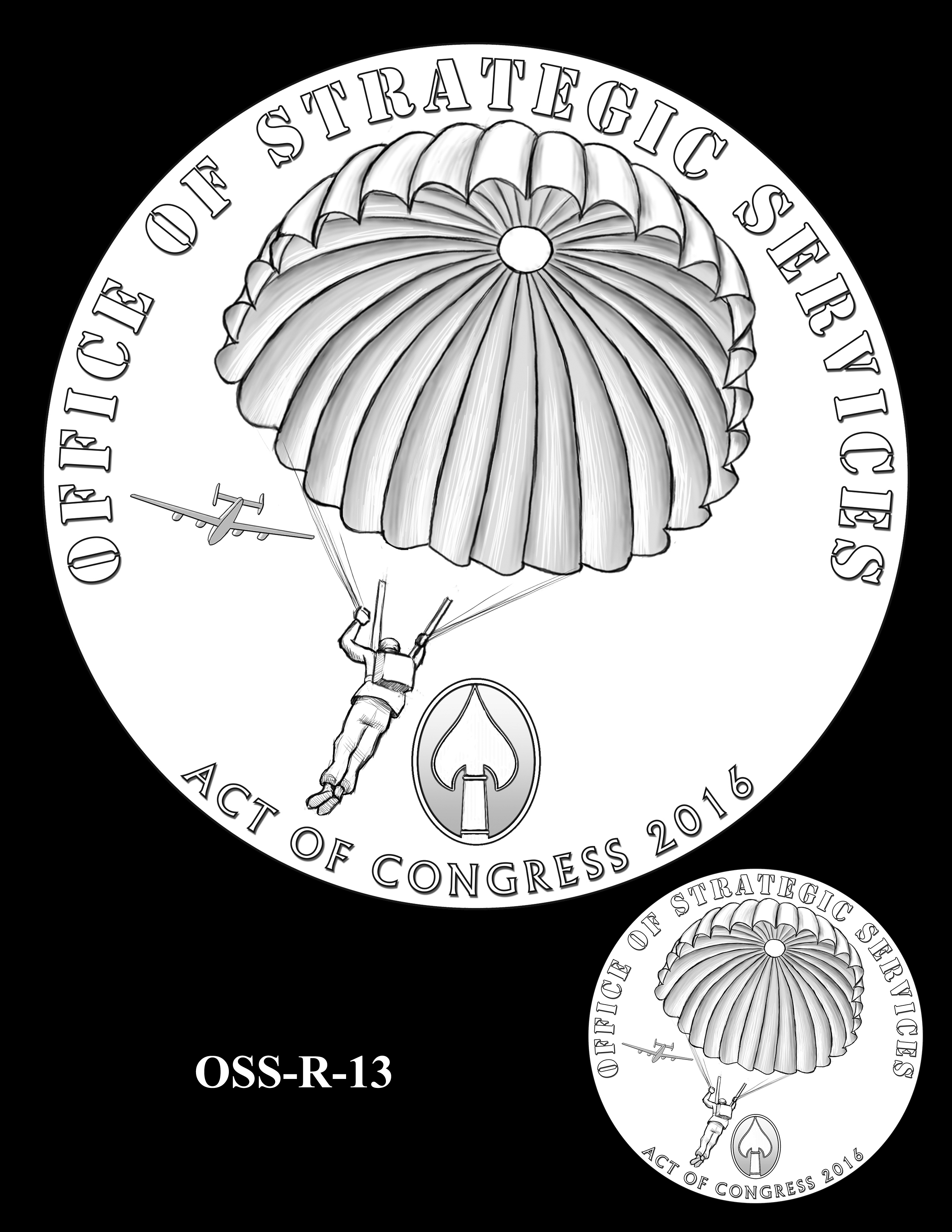 OSS-R-13 -- Office of Strategic Services Congressional Gold Medal