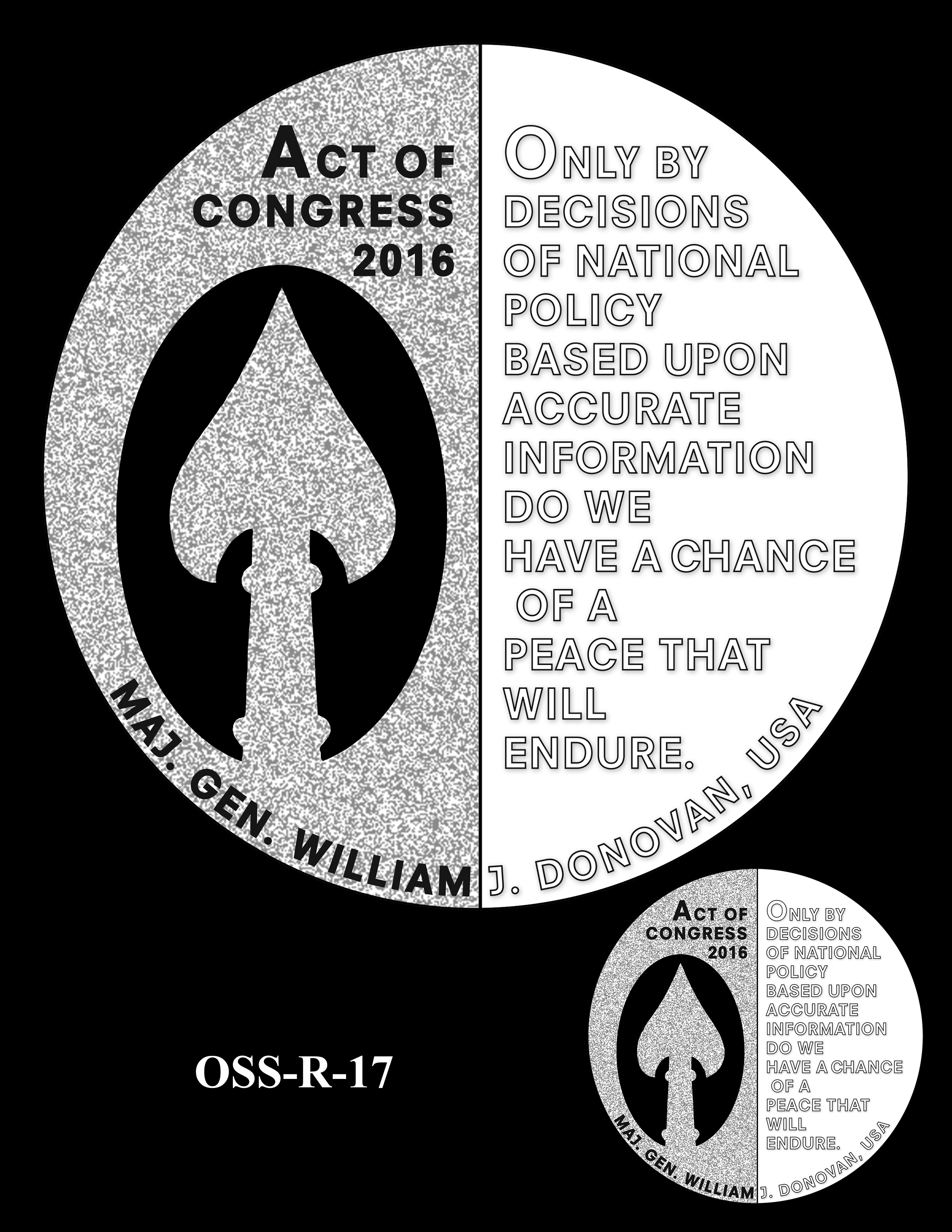 OSS-R-17 -- Office of Strategic Services Congressional Gold Medal