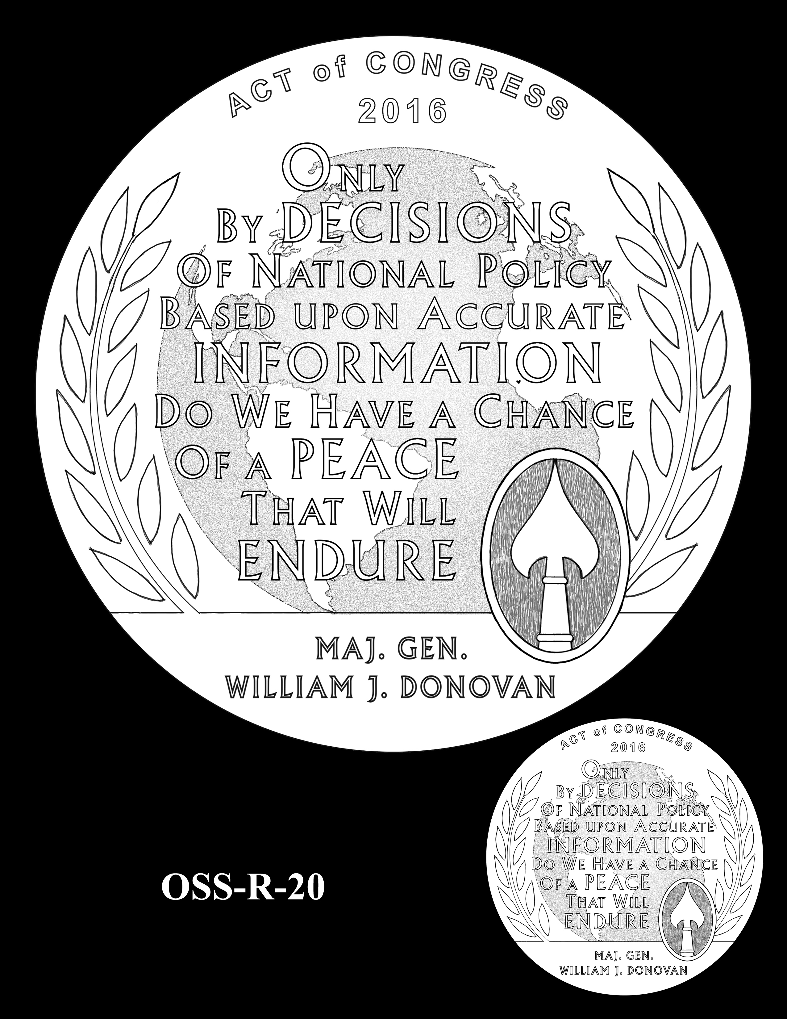 OSS-R-20 -- Office of Strategic Services Congressional Gold Medal