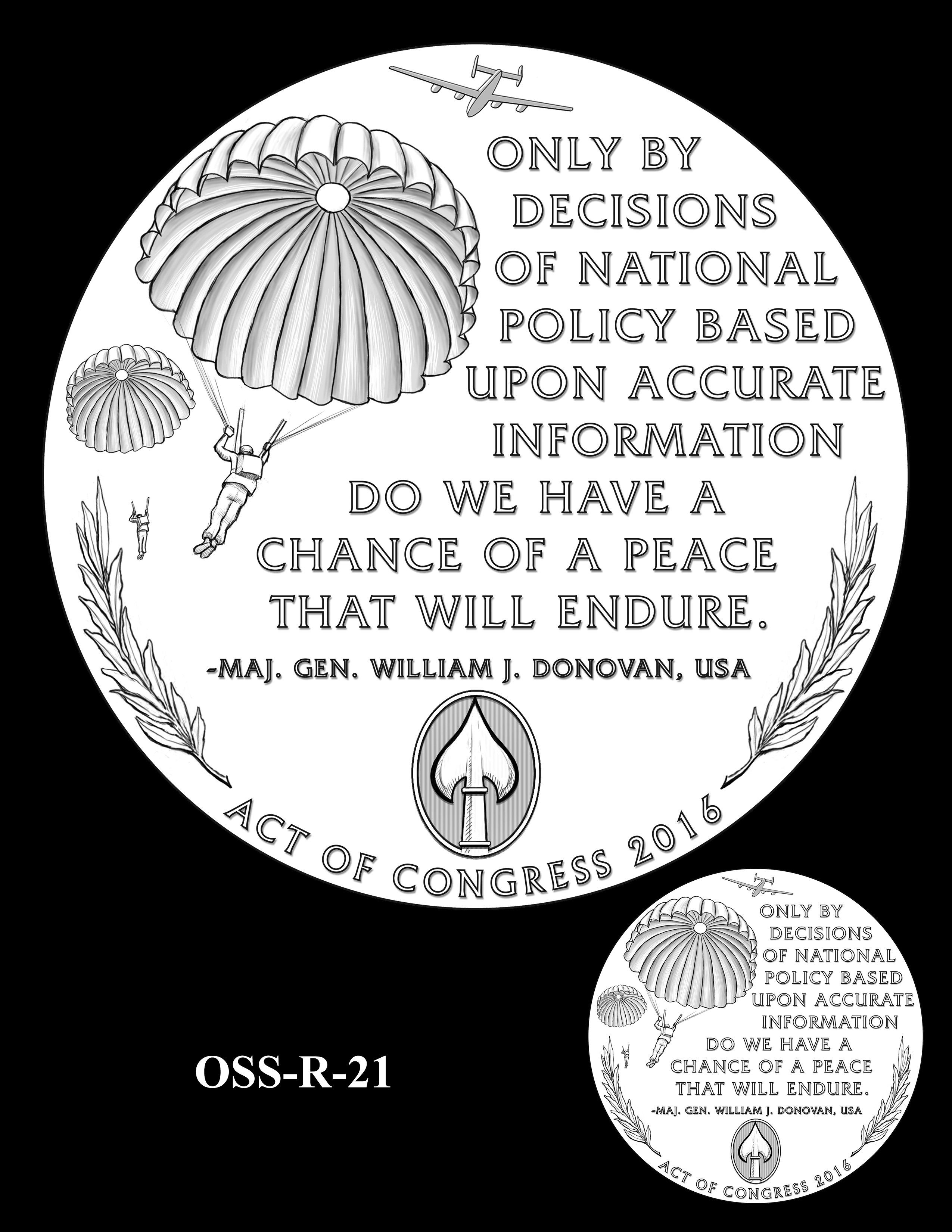 OSS-R-21 -- Office of Strategic Services Congressional Gold Medal