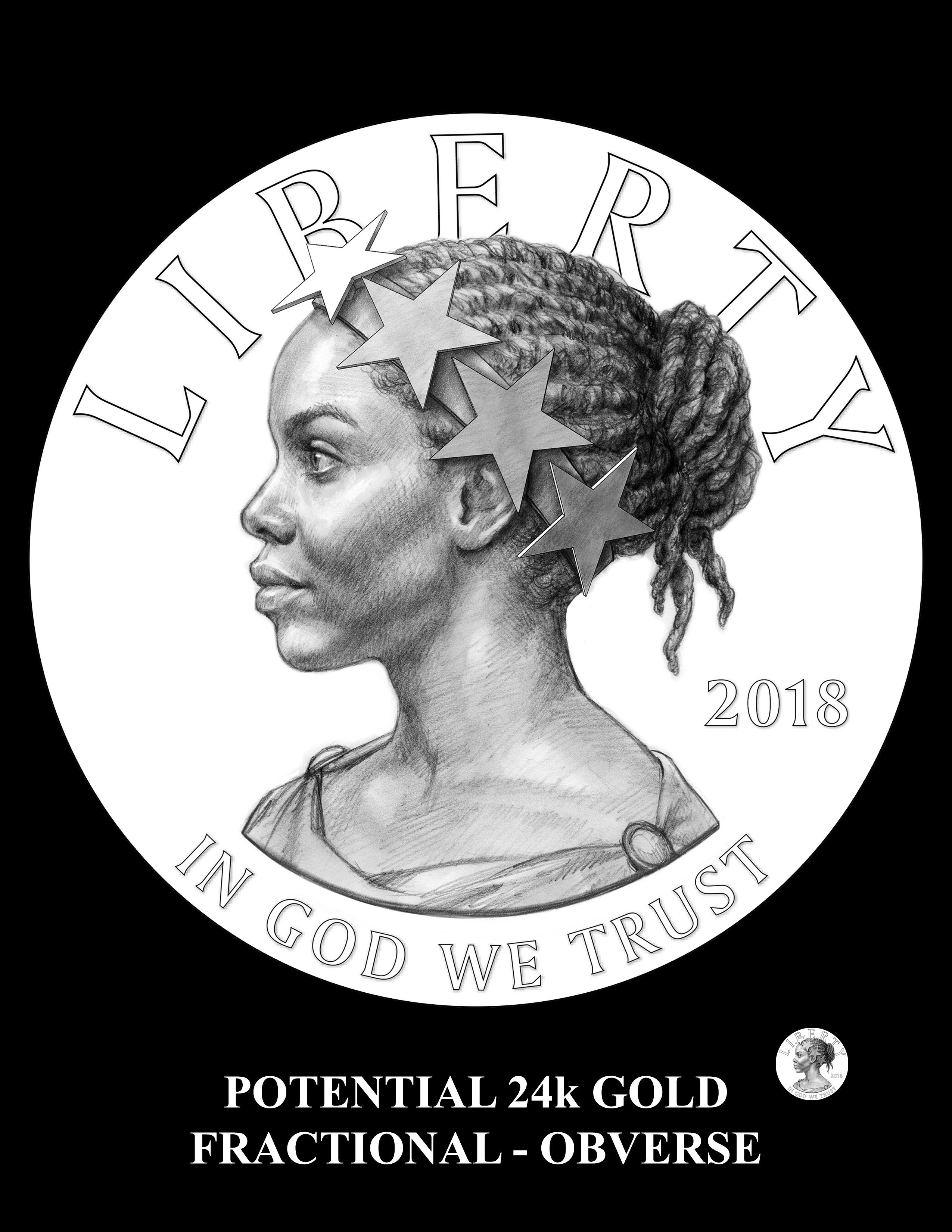 Potential-2018-ALGF-Obverse -- Potential 2018 American Liberty24k Gold Fractional Coin