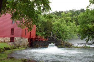 Alley Spring Mill in Eminence, MO, site of the Ozark National Scenic Riverways quarter launch ceremony.