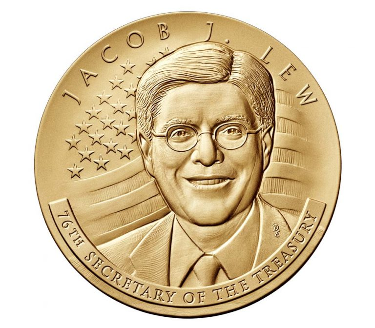 Jacob Lew Secretary of the Treasury Bronze Medal Obverse