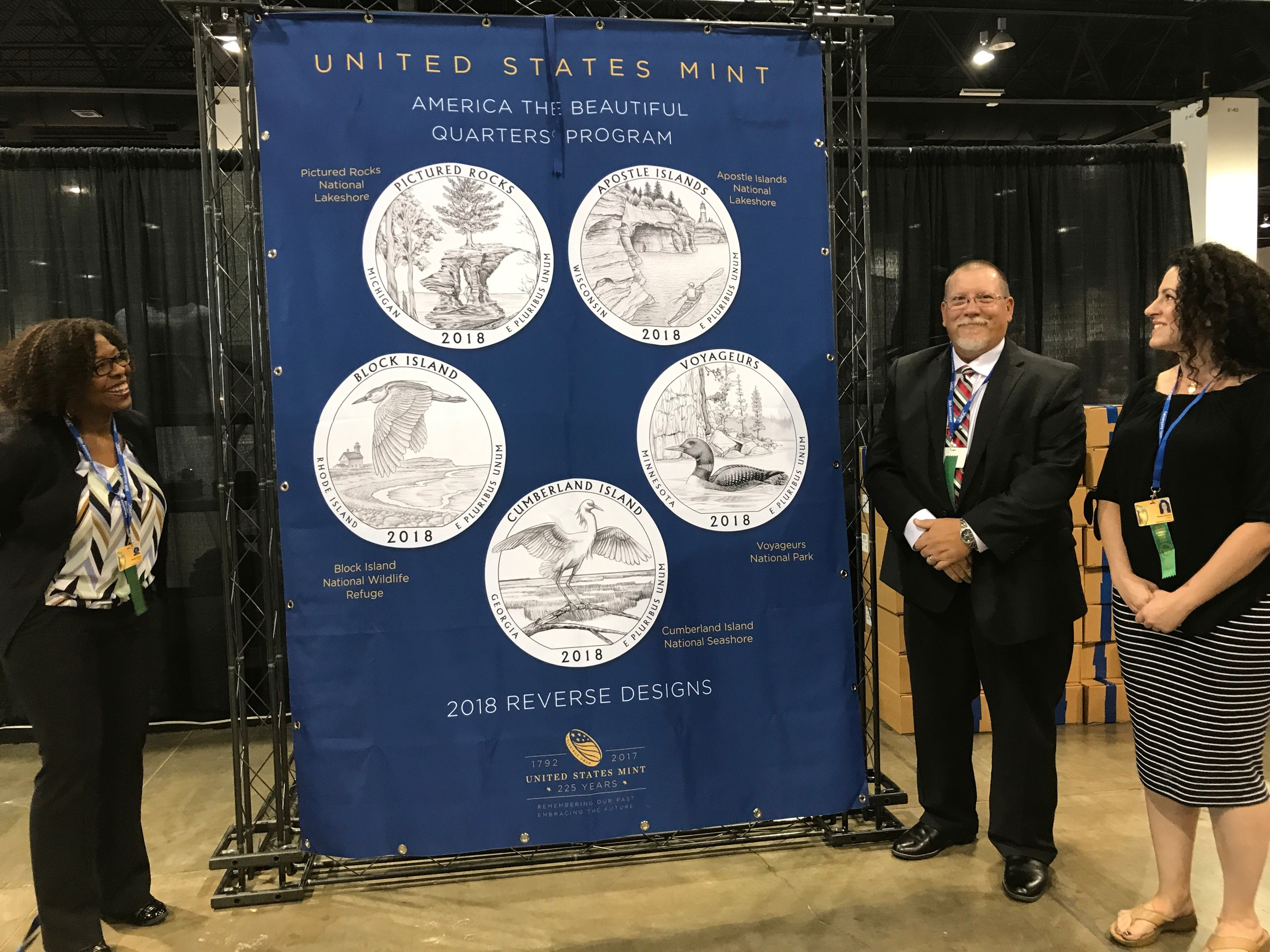 Designs for the 2018 America the Beautiful Quarters(R) Program are unveiled. U.S. Mint photo by Debbie Dawson.