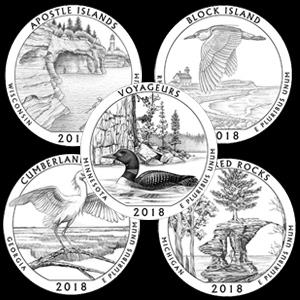 2018 america the beautiful quarters line art designs