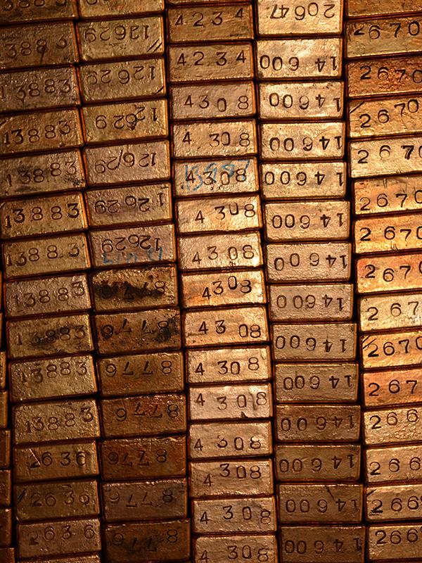 Gold bullion at Fort Knox.