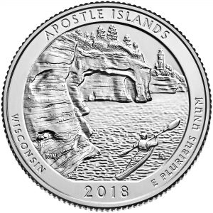2018 America the Beautiful Quarters Coin Apostle Islands Wisconsin Uncirculated Reverse