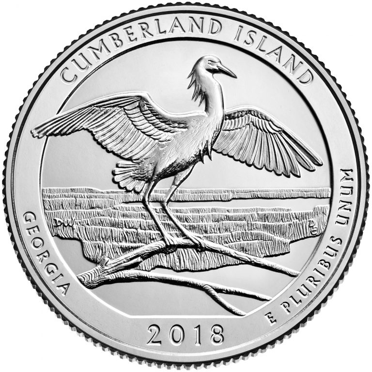 2018 America the Beautiful Quarters Coin Cumberland Island Georgia Uncirculated Reverse