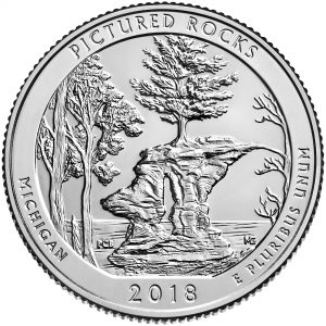 2018 America the Beautiful Quarters Coin Pictured Rocks Michigan Uncirculated Reverse