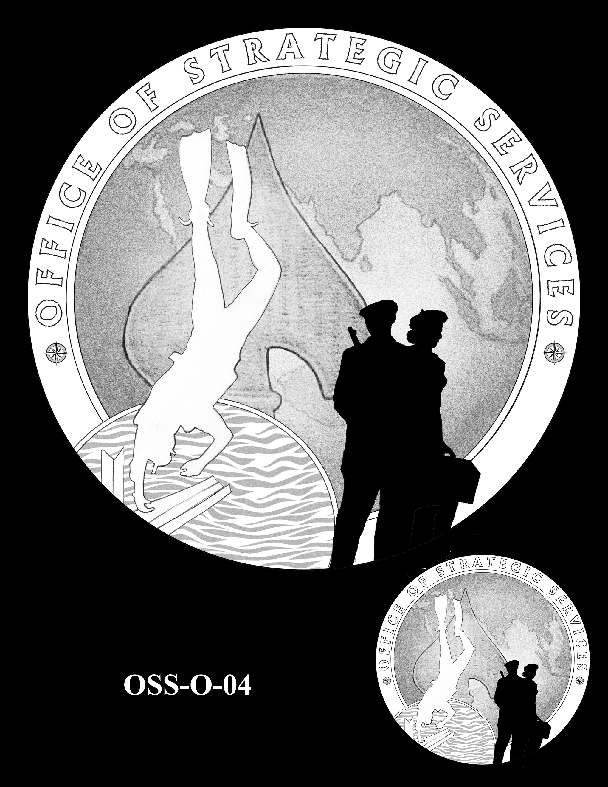 OSS-O-04 -- Office of Strategic Services Congressional Gold Medal