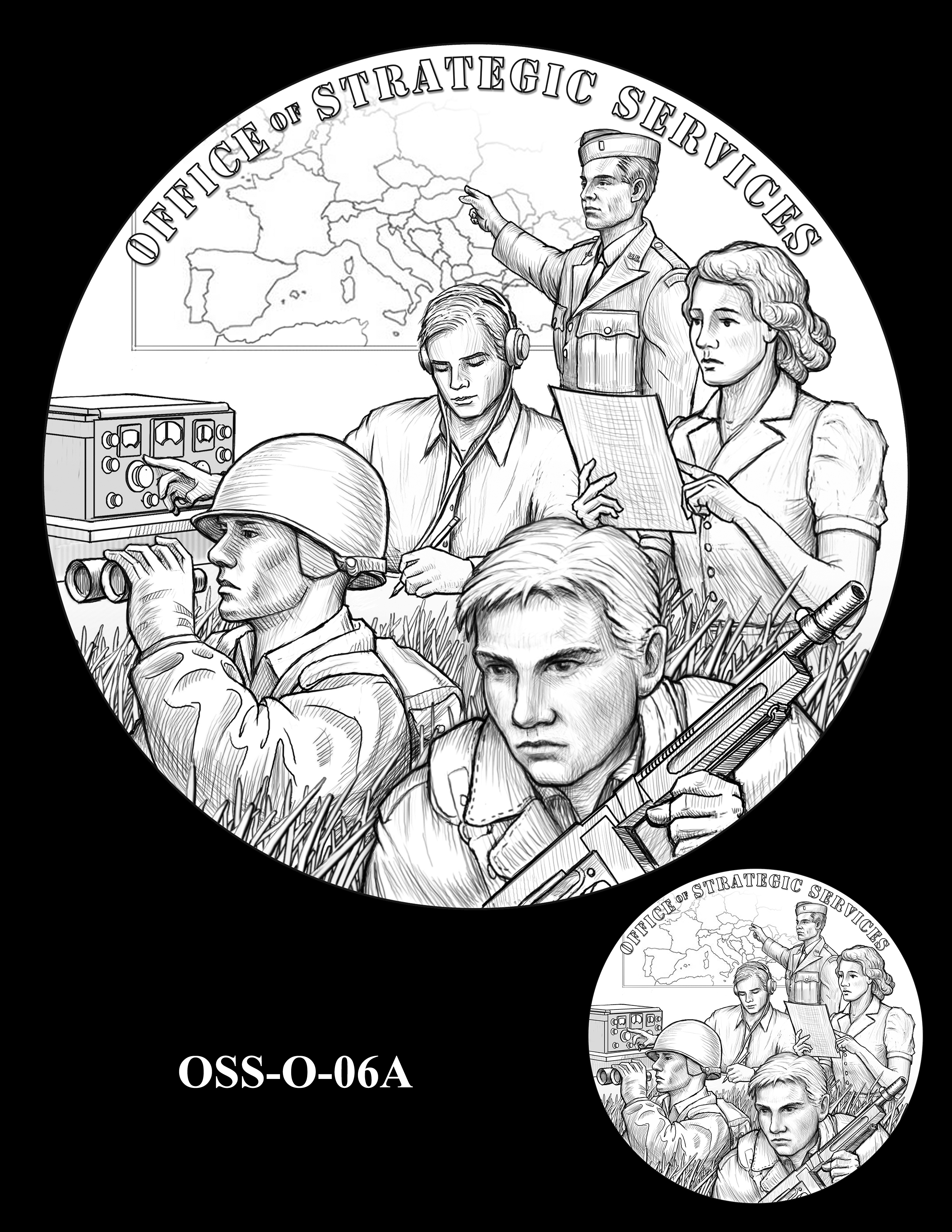 OSS-O-06A -- Office of Strategic Services Congressional Gold Medal