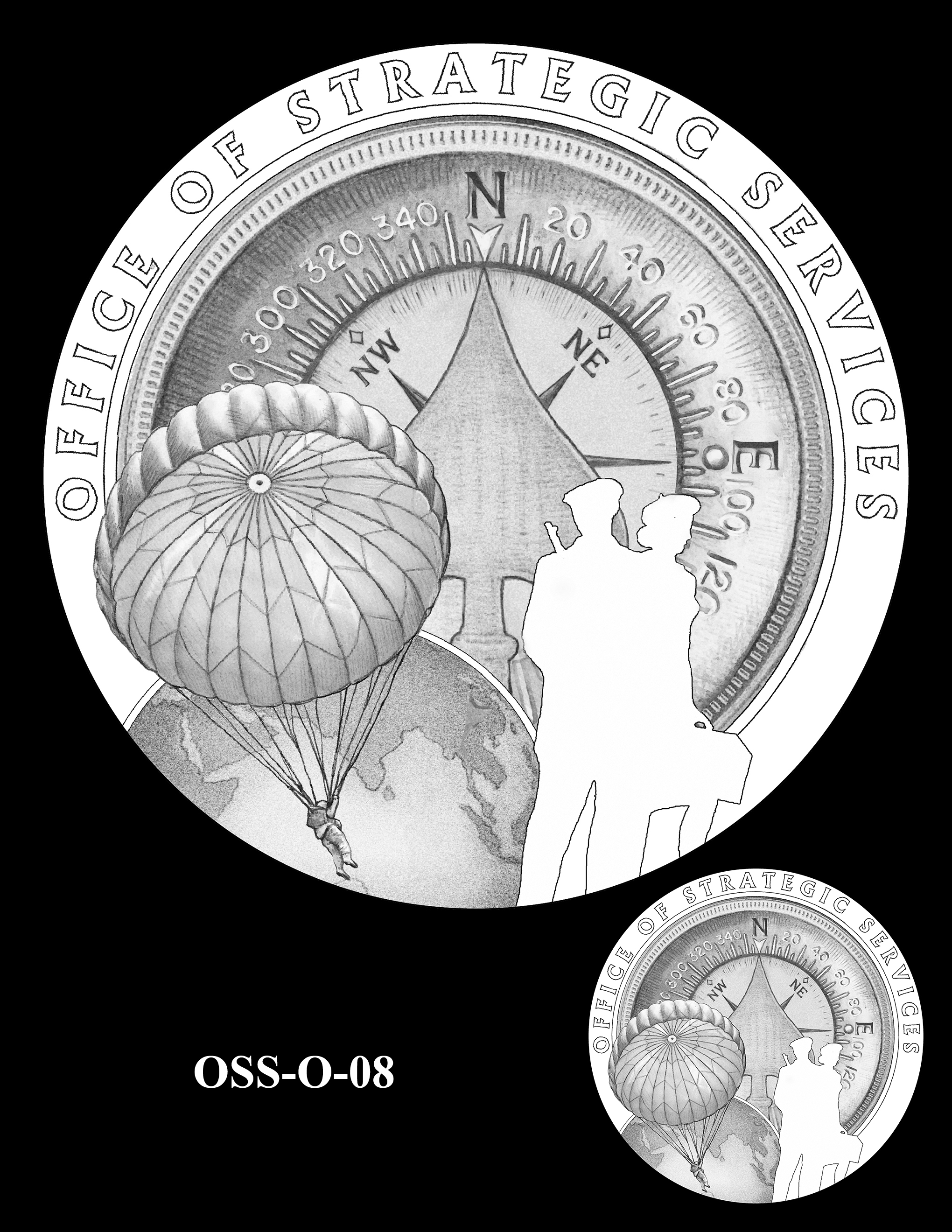 OSS-O-08 -- Office of Strategic Services Congressional Gold Medal