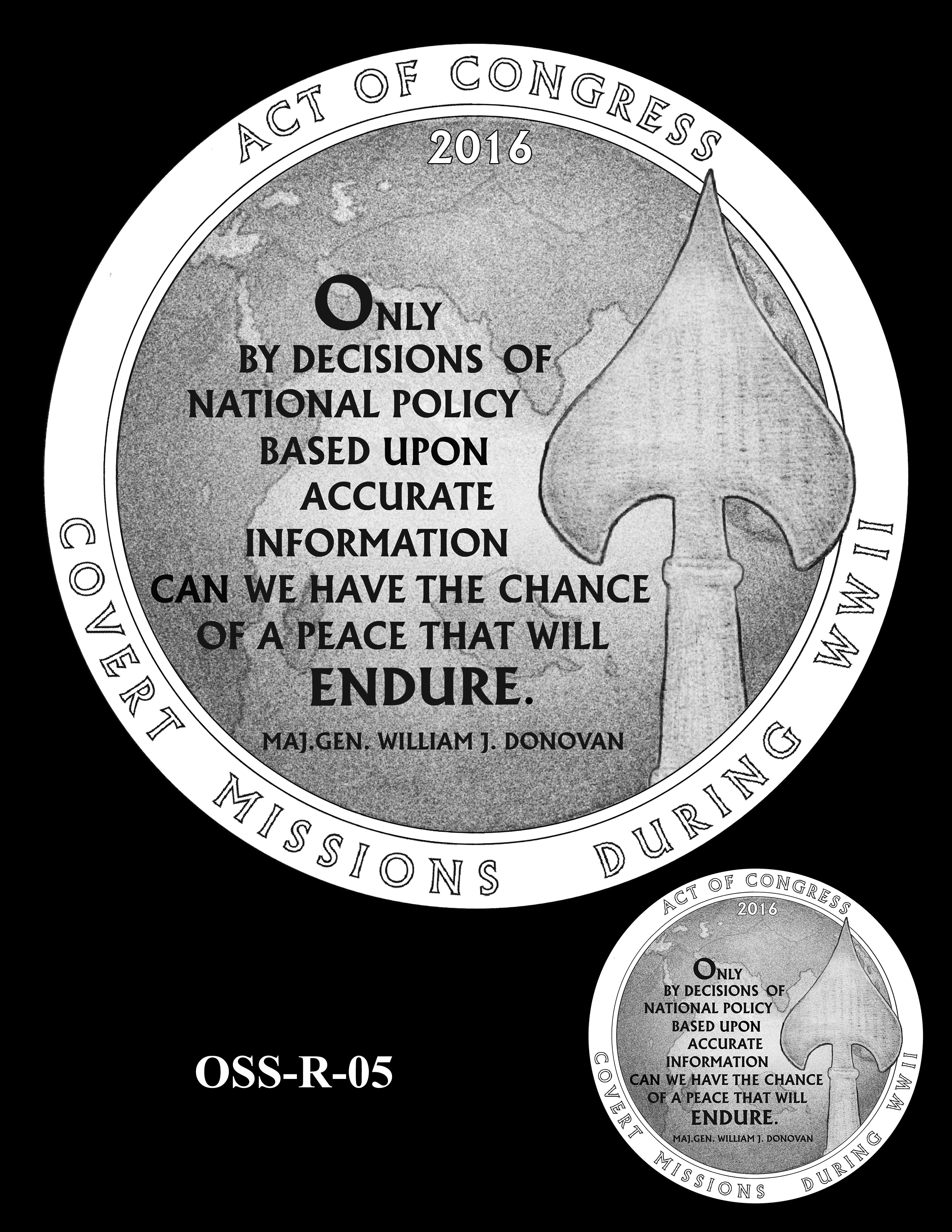 OSS-R-05 -- Office of Strategic Services Congressional Gold Medal