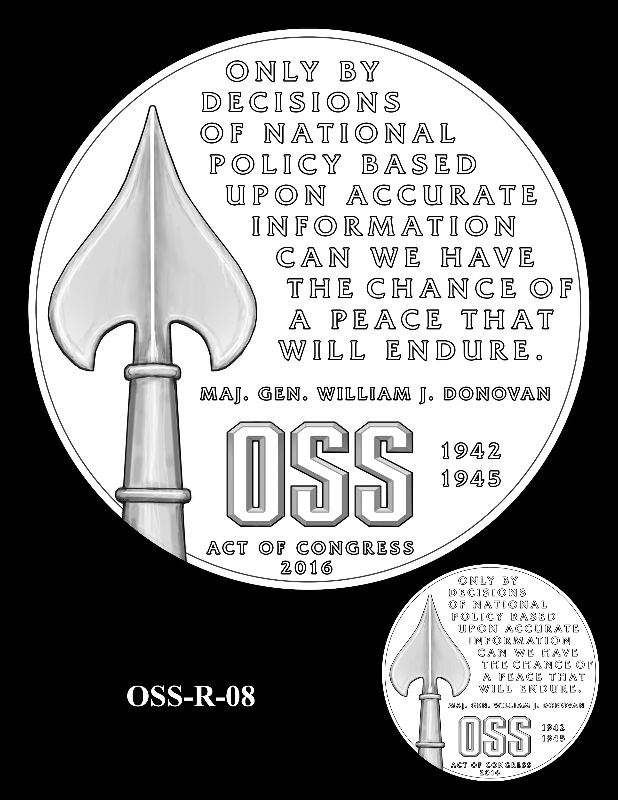 OSS-R-08 -- Office of Strategic Services Congressional Gold Medal