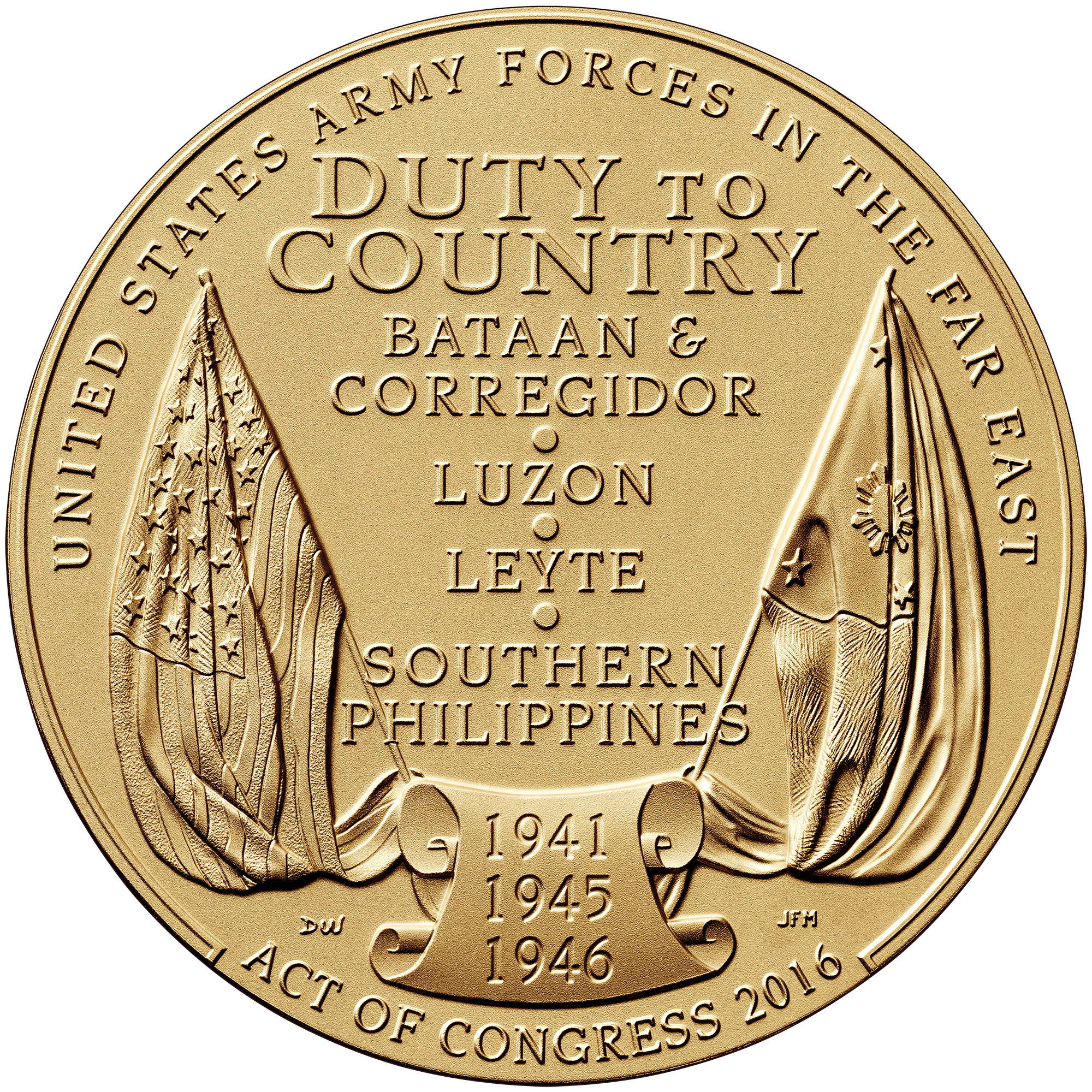 Filipino Veterans World War II Bronze Medal Three Inch Reverse