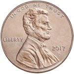 2017 Lincoln Penny Circulating Obverse Philadelphia