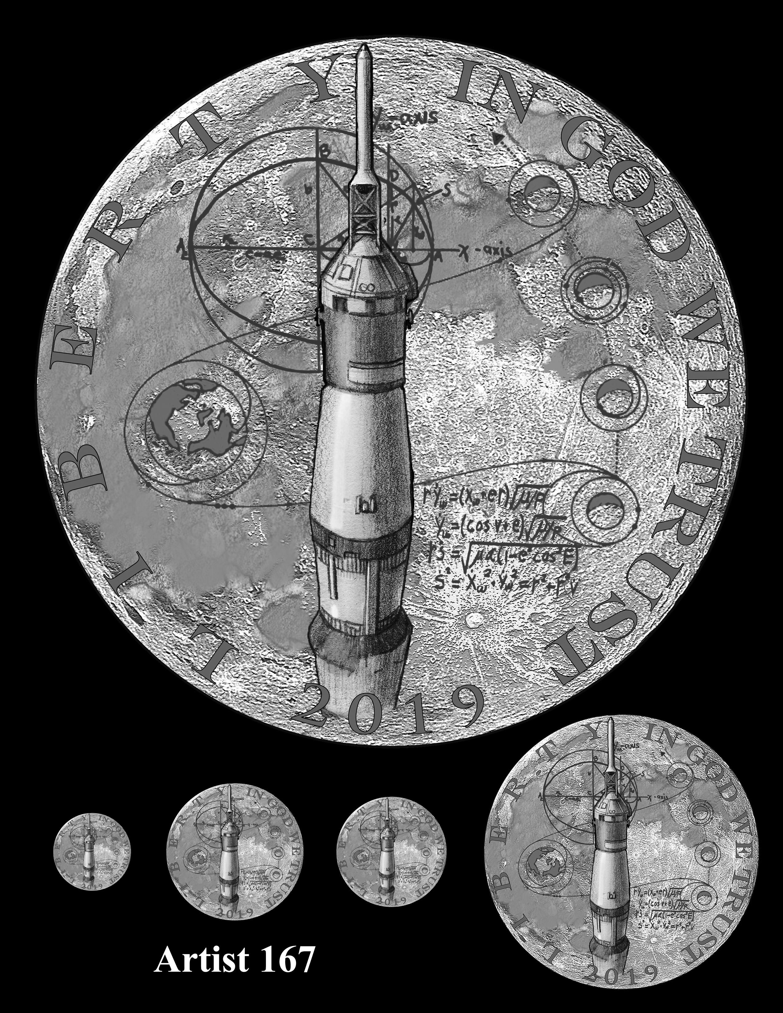 Artist 167 -- Apollo 11 50th Anniversary Commemorative Coin Obverse Design Competition